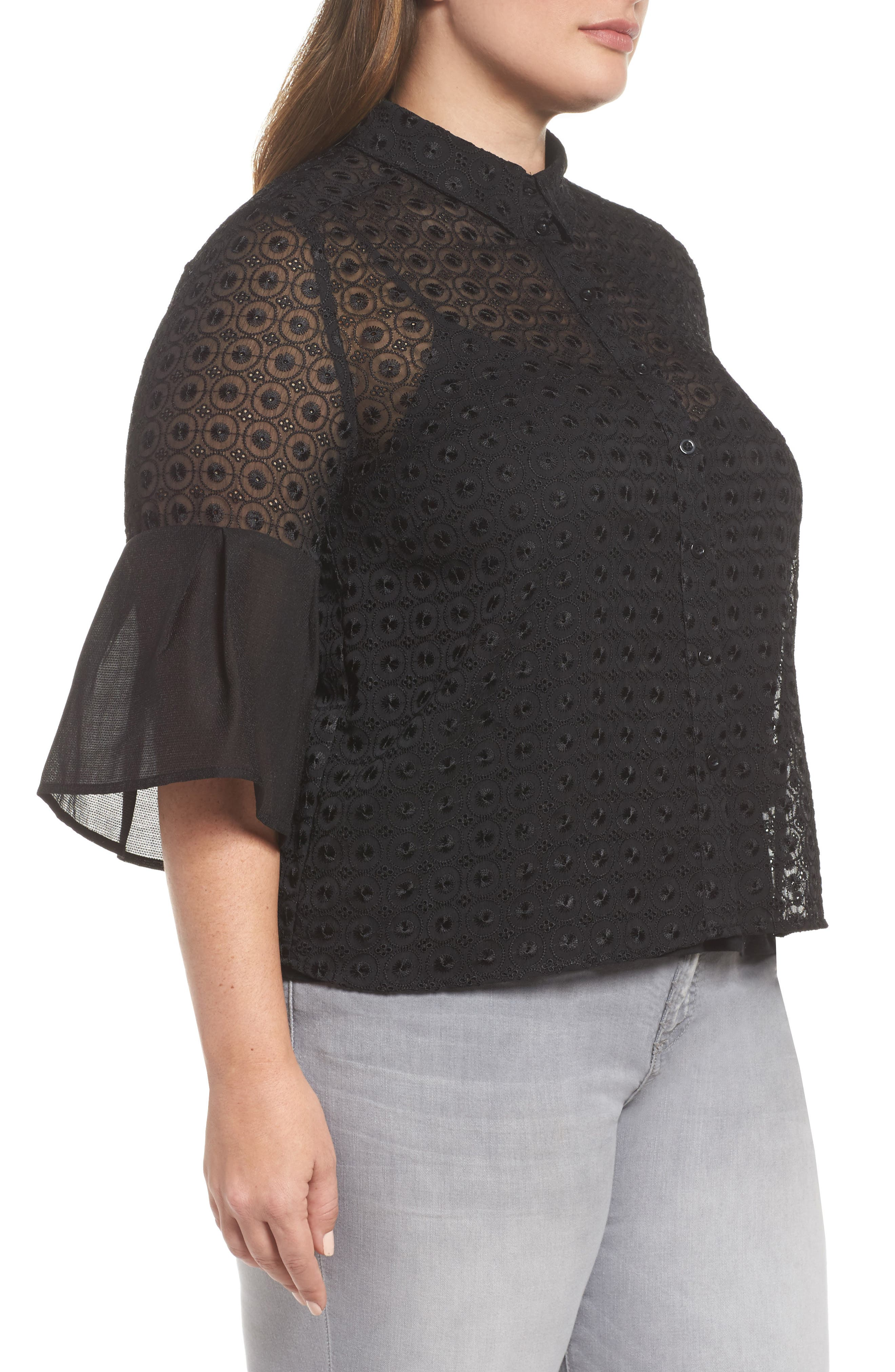 The Mantle Broderie Blouse,                             Alternate thumbnail 3, color,                             001