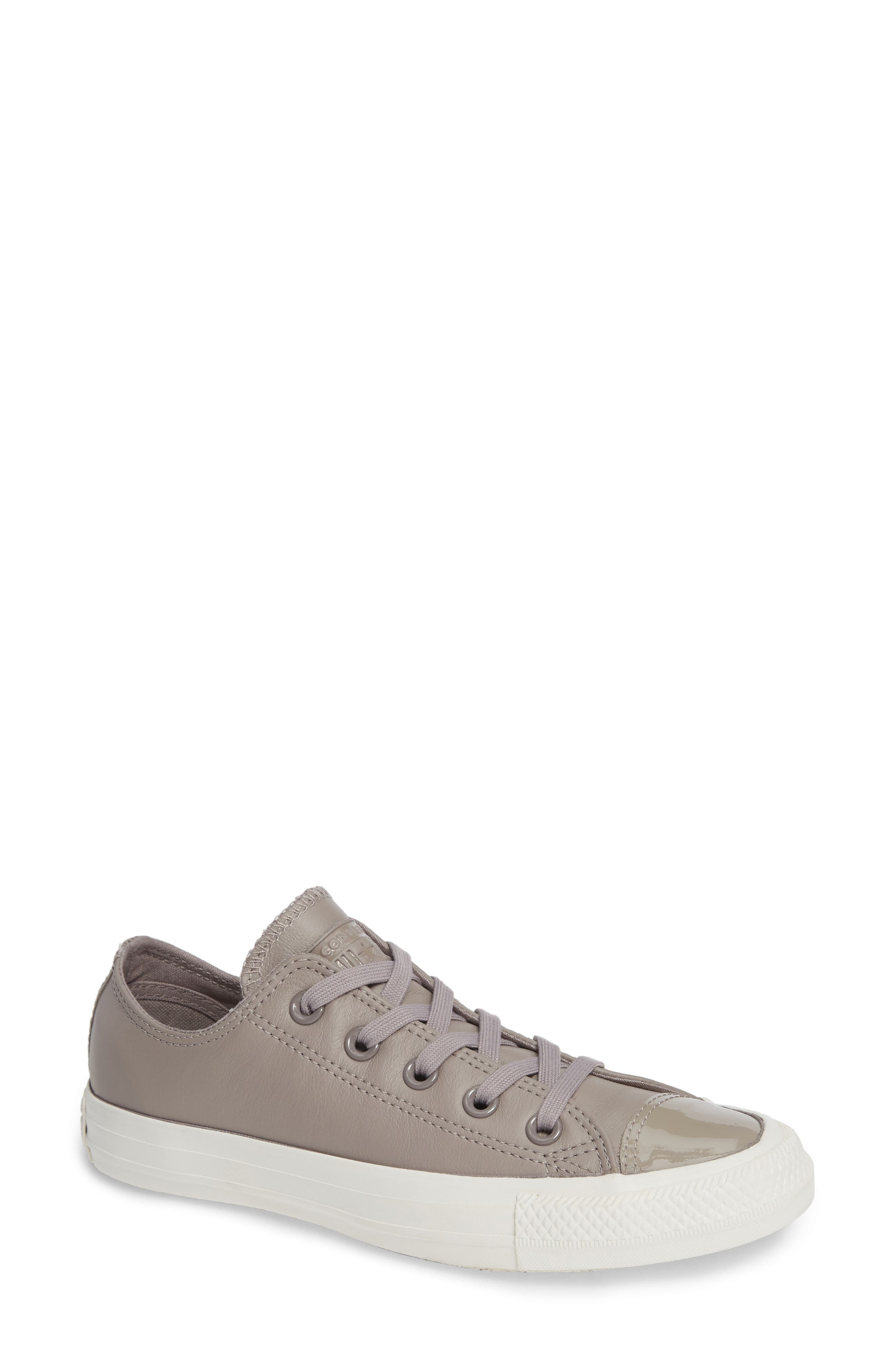 CONVERSE,                             All Star<sup>®</sup> Leather Patent Low Top Sneaker,                             Main thumbnail 1, color,                             020