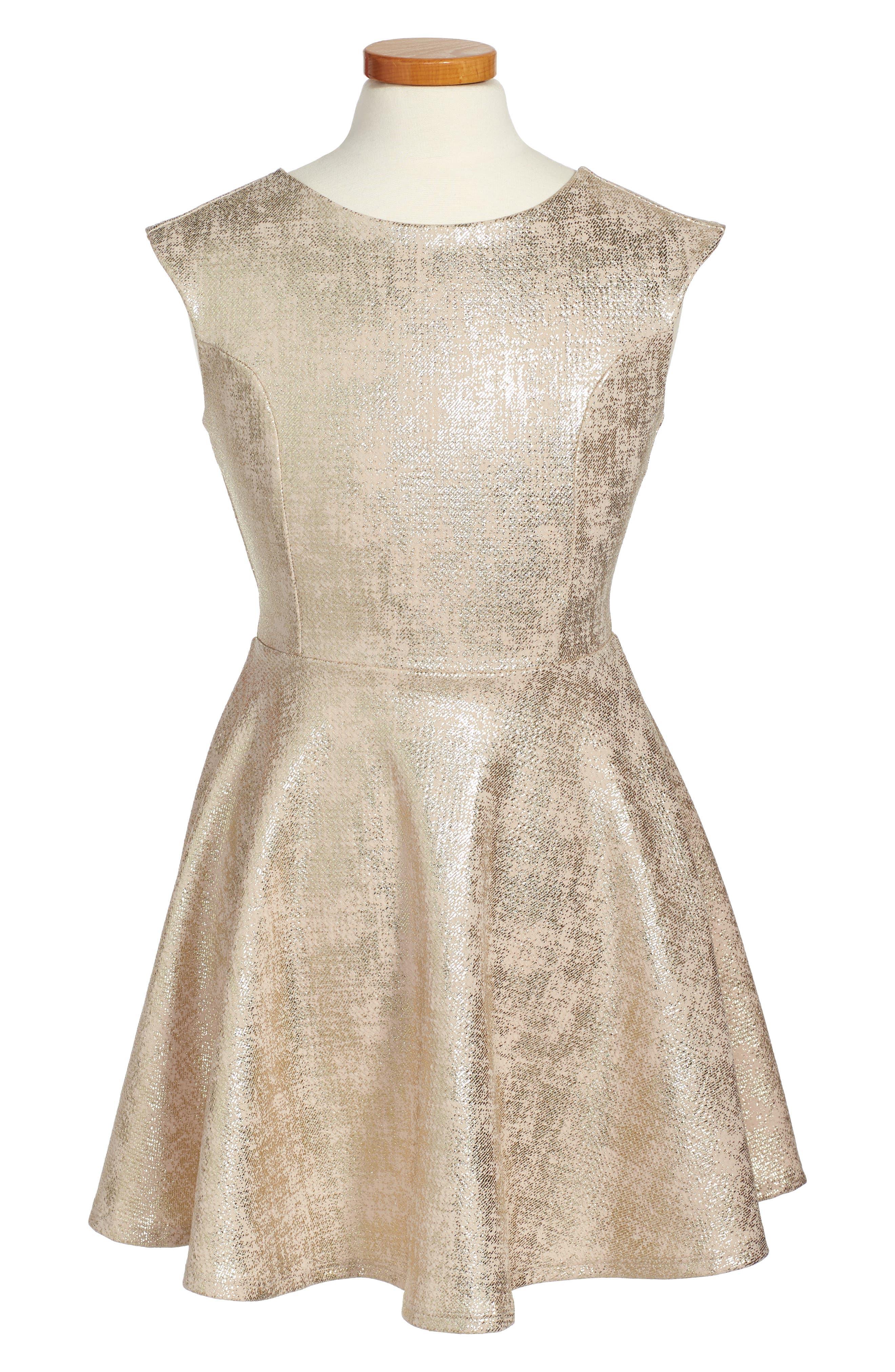 Cap Sleeve Party Dress,                         Main,                         color, 710