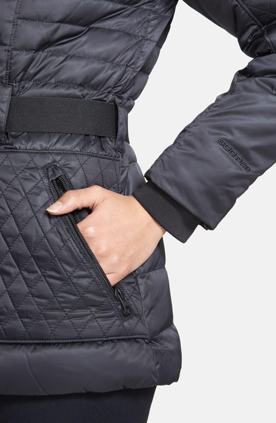 'Parkina' Belted Down Jacket,                             Alternate thumbnail 2, color,                             001