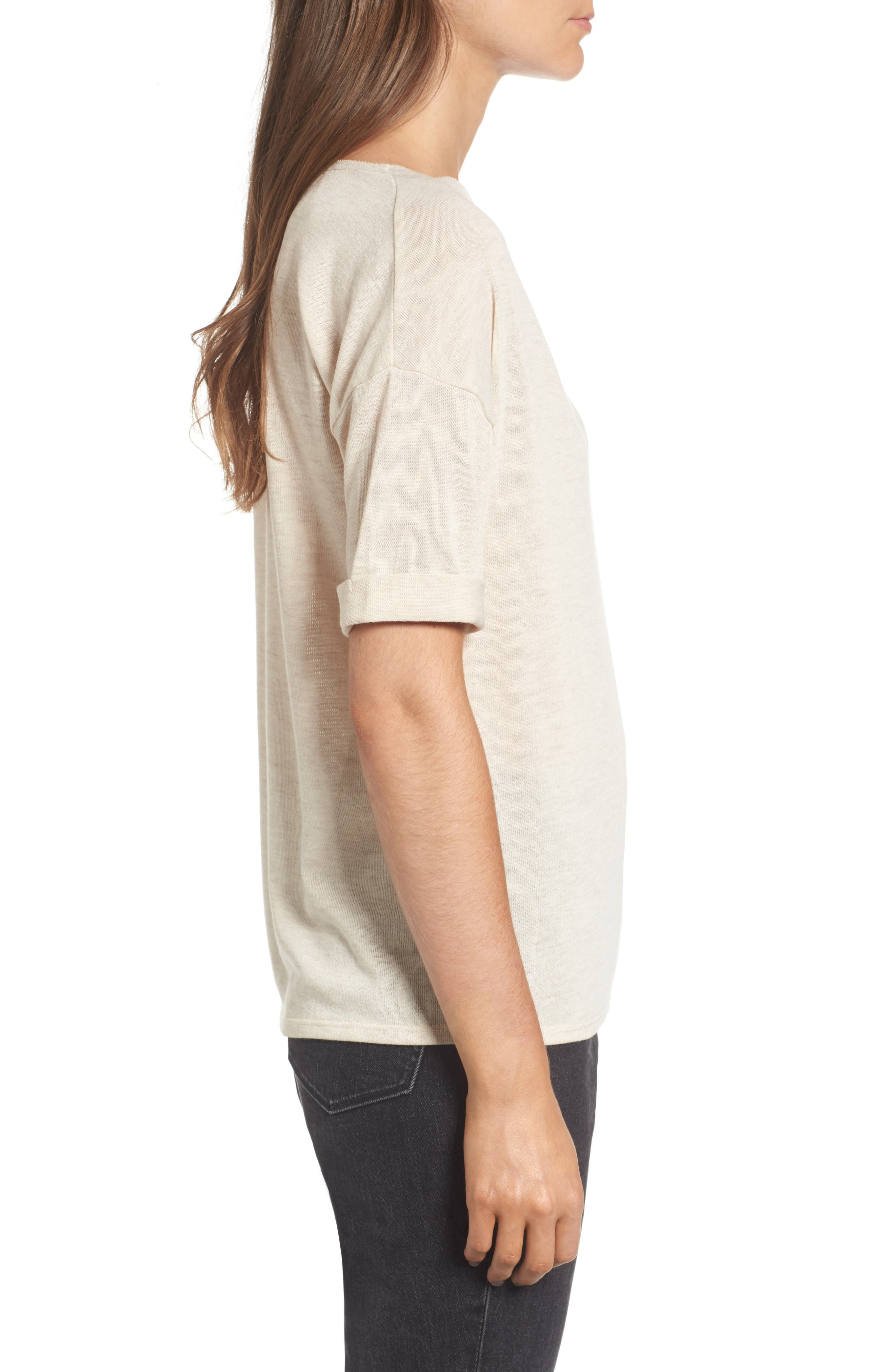 x Something Navy Easy Tee,                             Alternate thumbnail 8, color,