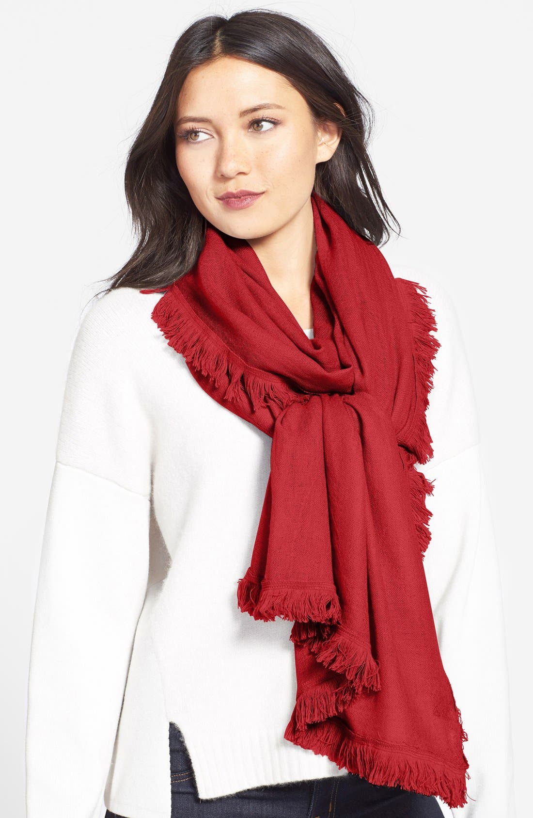 Wool & Cashmere Scarf,                             Main thumbnail 6, color,