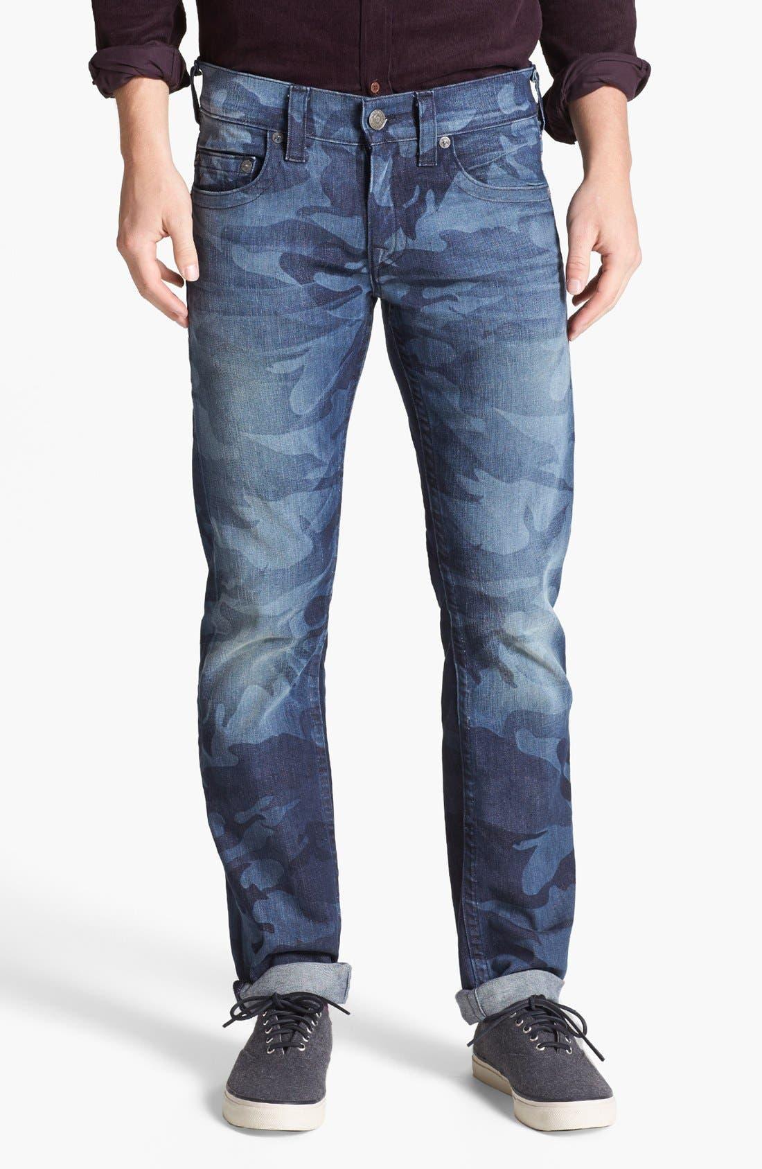 'Bobby' Straight Leg Selvedge Jeans,                             Alternate thumbnail 3, color,                             400