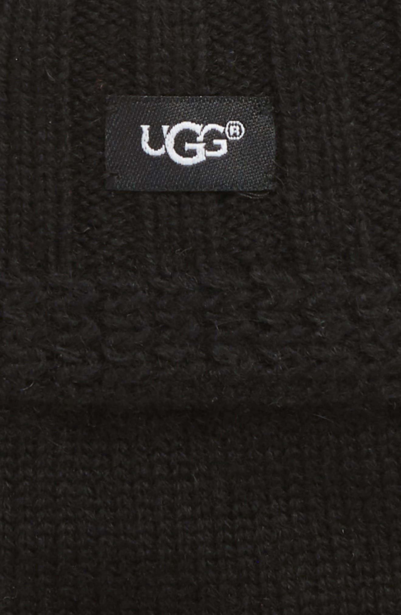 UGG<sup>®</sup> Textured Fingerless Knit Gloves,                             Alternate thumbnail 2, color,                             001