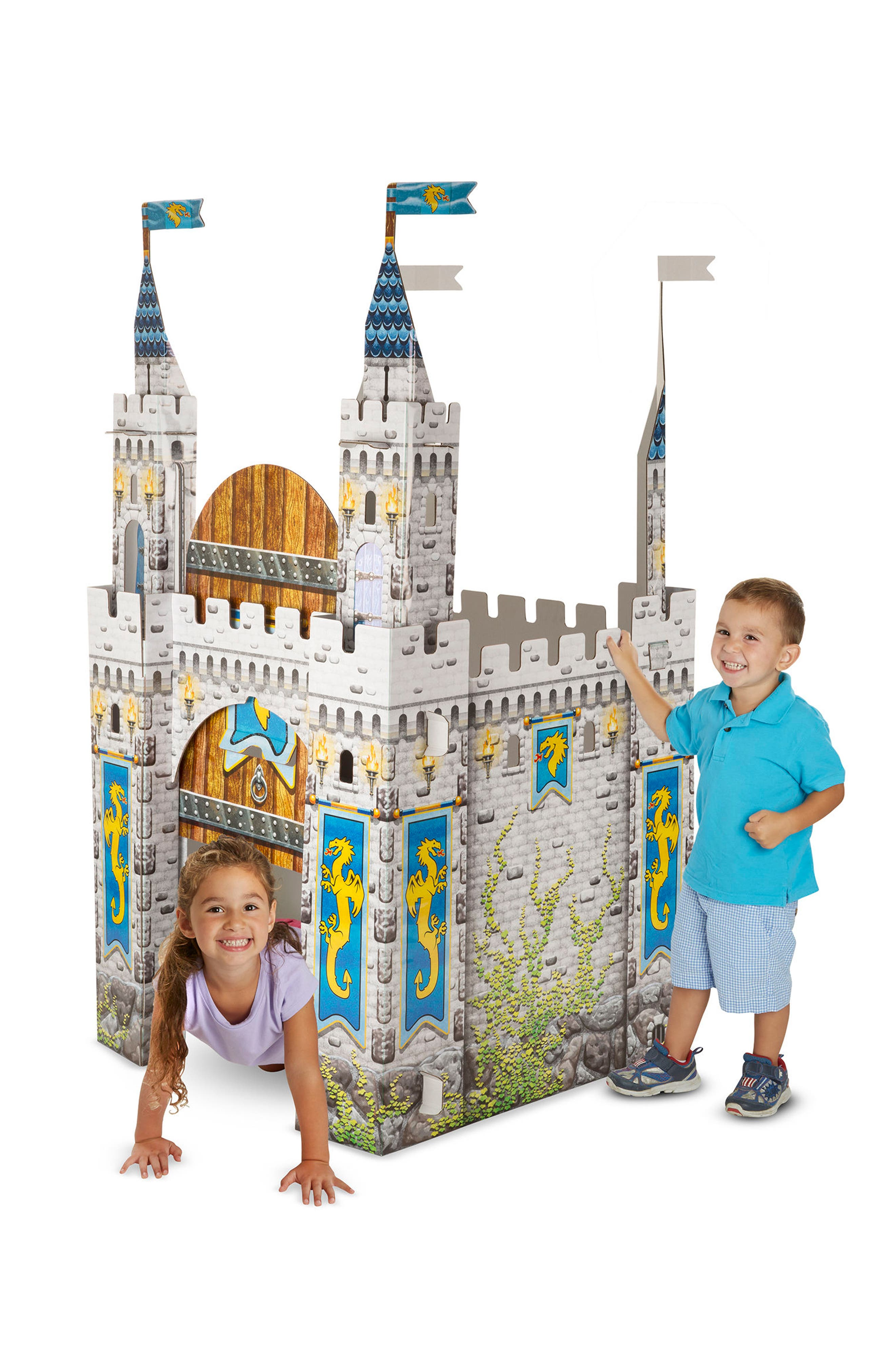 Cardboard Castle Playhouse,                             Alternate thumbnail 4, color,                             GREY