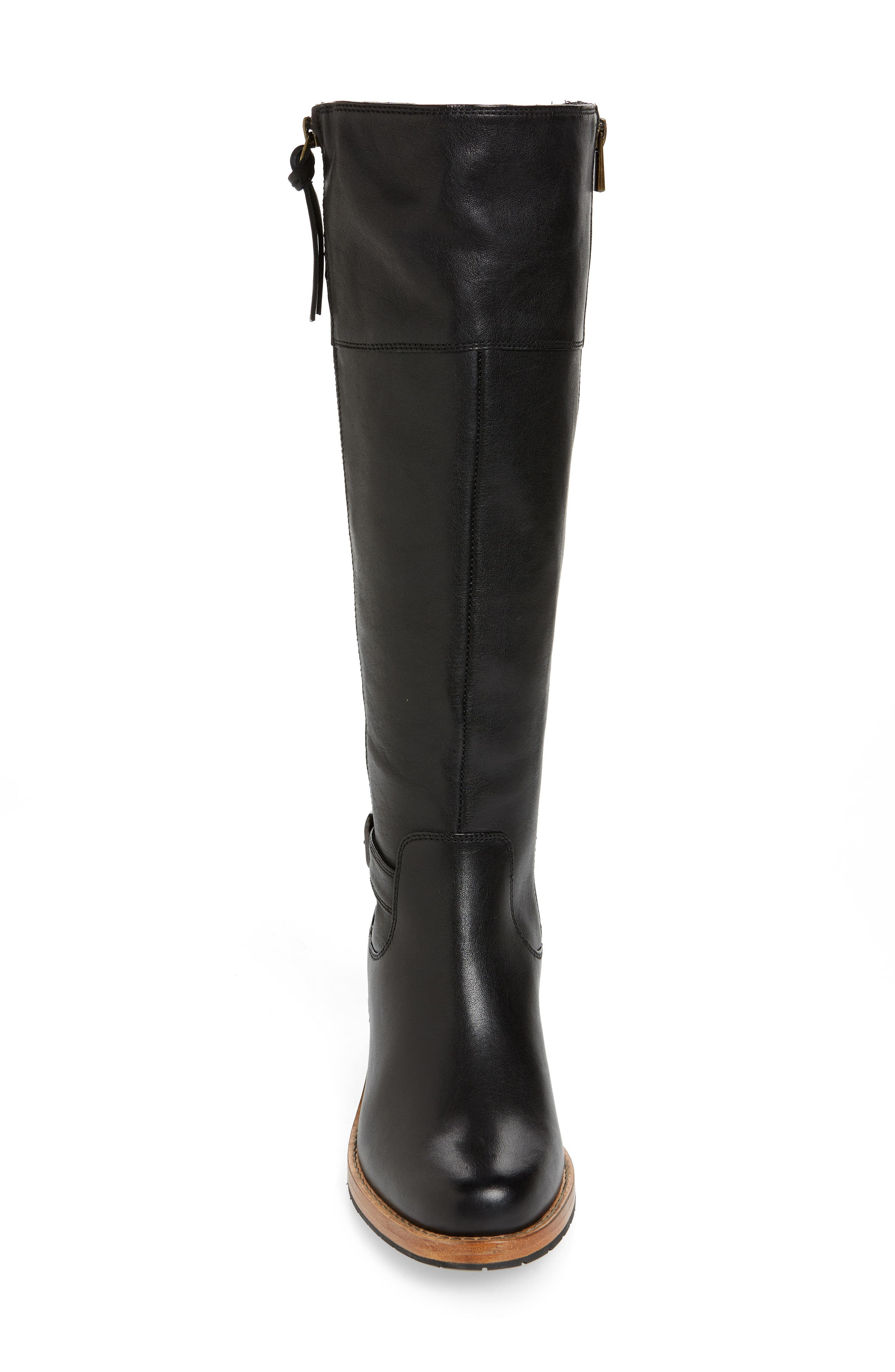 Clarkdale Sona Boot,                             Alternate thumbnail 4, color,                             BLACK LEATHER