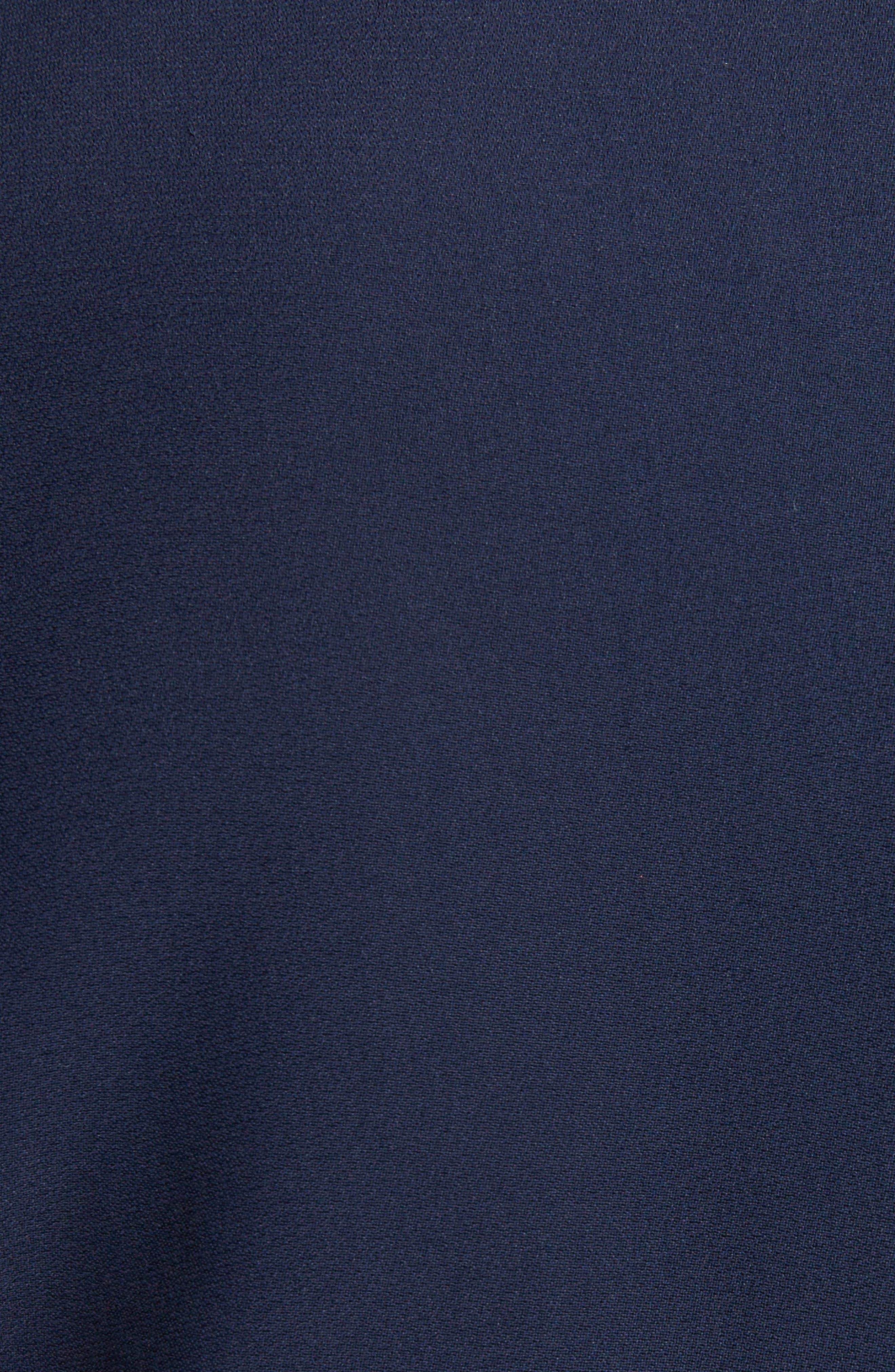 Leaf Crepe Fit & Flare Dress,                             Alternate thumbnail 5, color,                             403