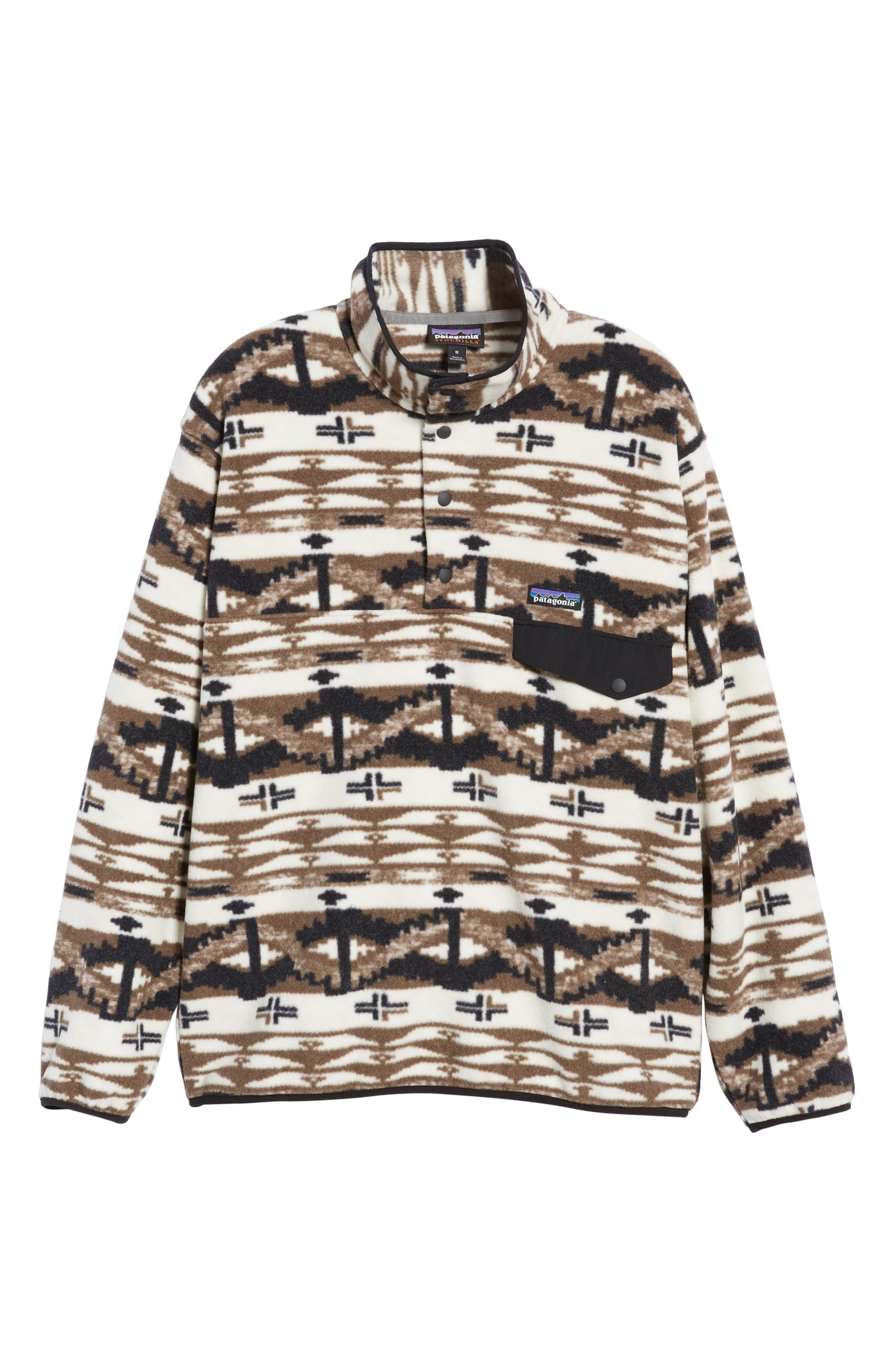 Synchilla<sup>®</sup> Snap-T<sup>®</sup> Pullover,                             Alternate thumbnail 6, color,                             SHEPHERD KNIT/ BIRCH WHITE