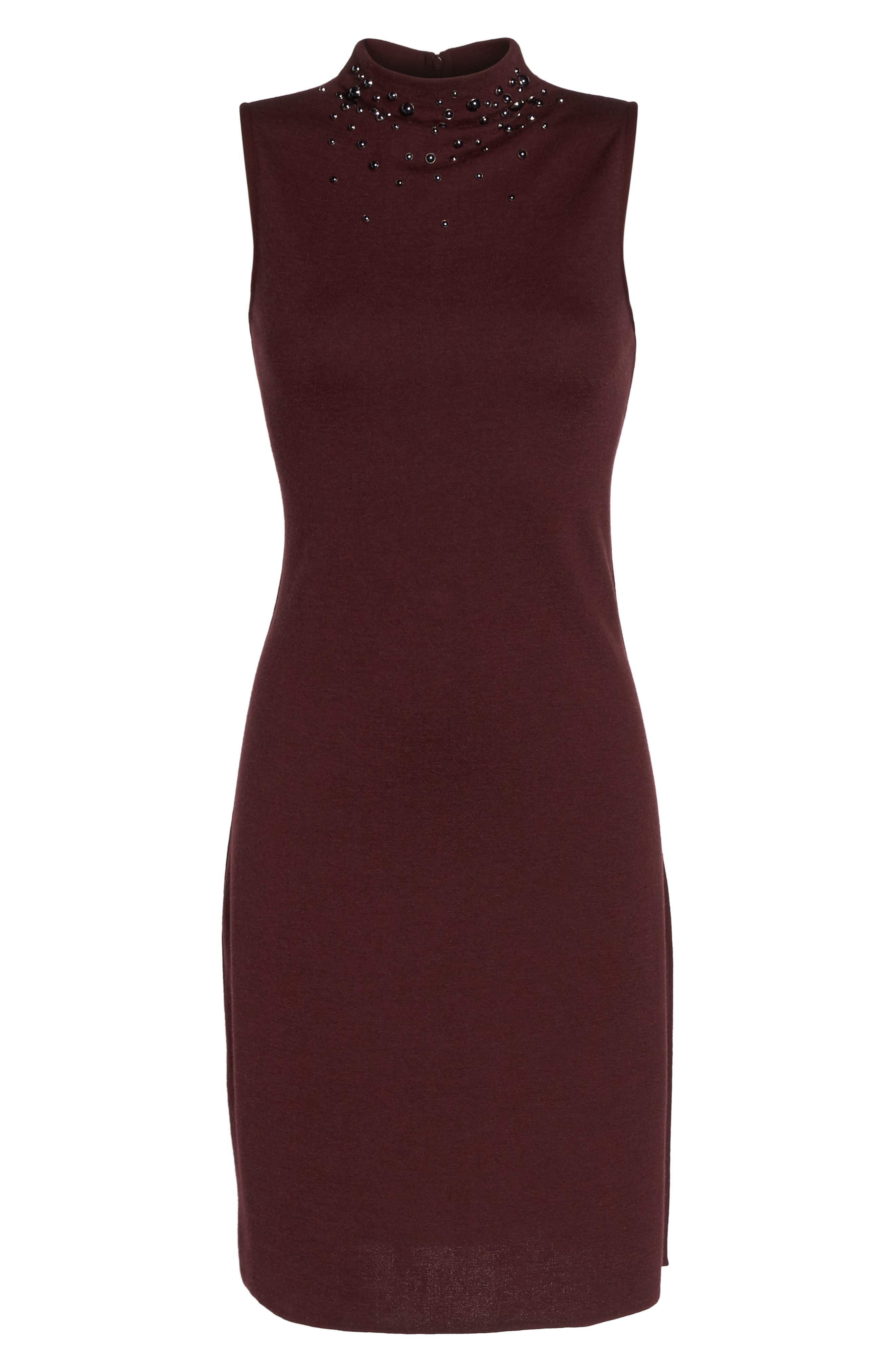NIC + ZOE Falling Studs Embellished Sheath Dress,                             Alternate thumbnail 6, color,
