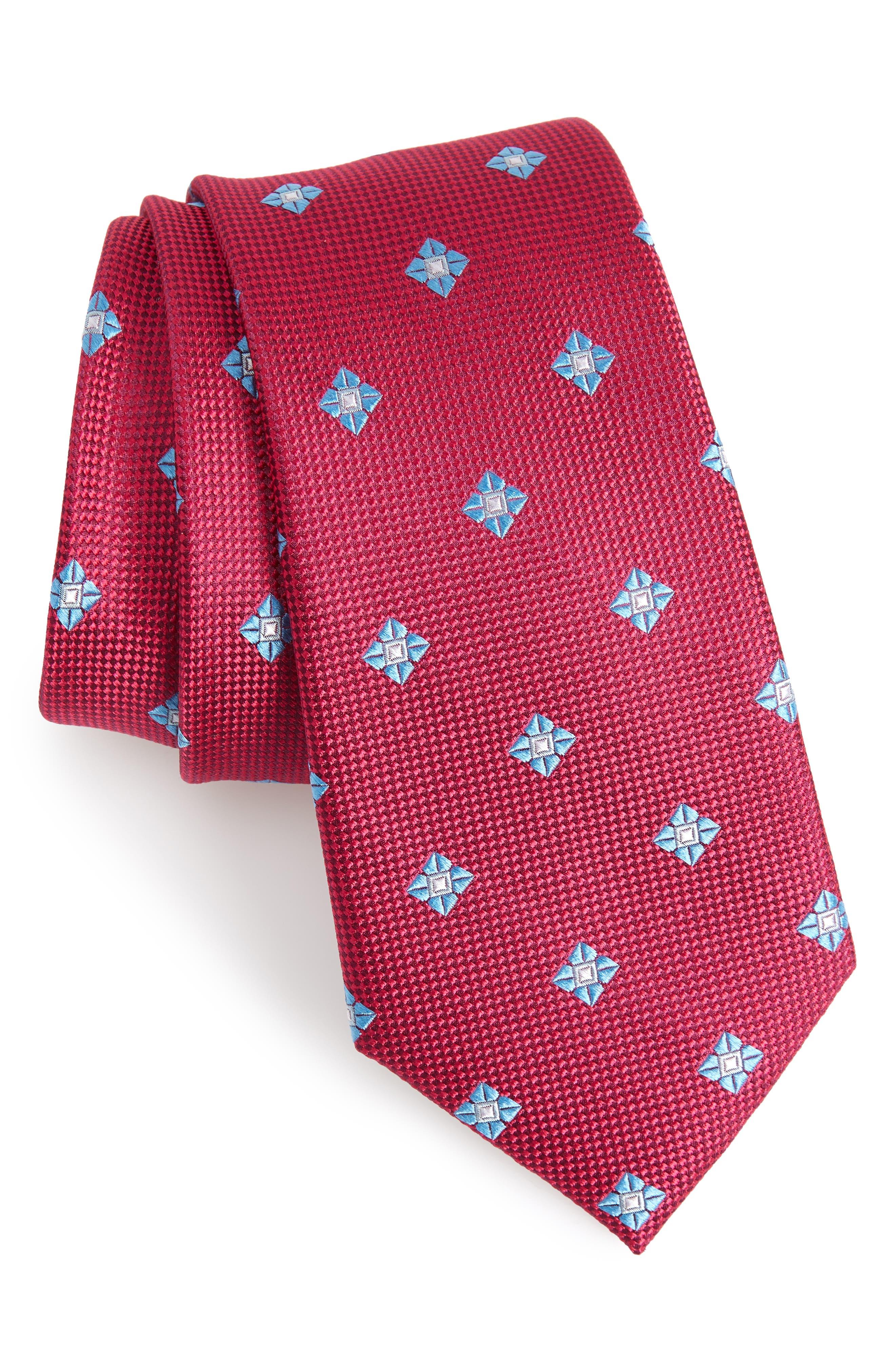 Oxford Medallion Silk Tie,                             Main thumbnail 5, color,