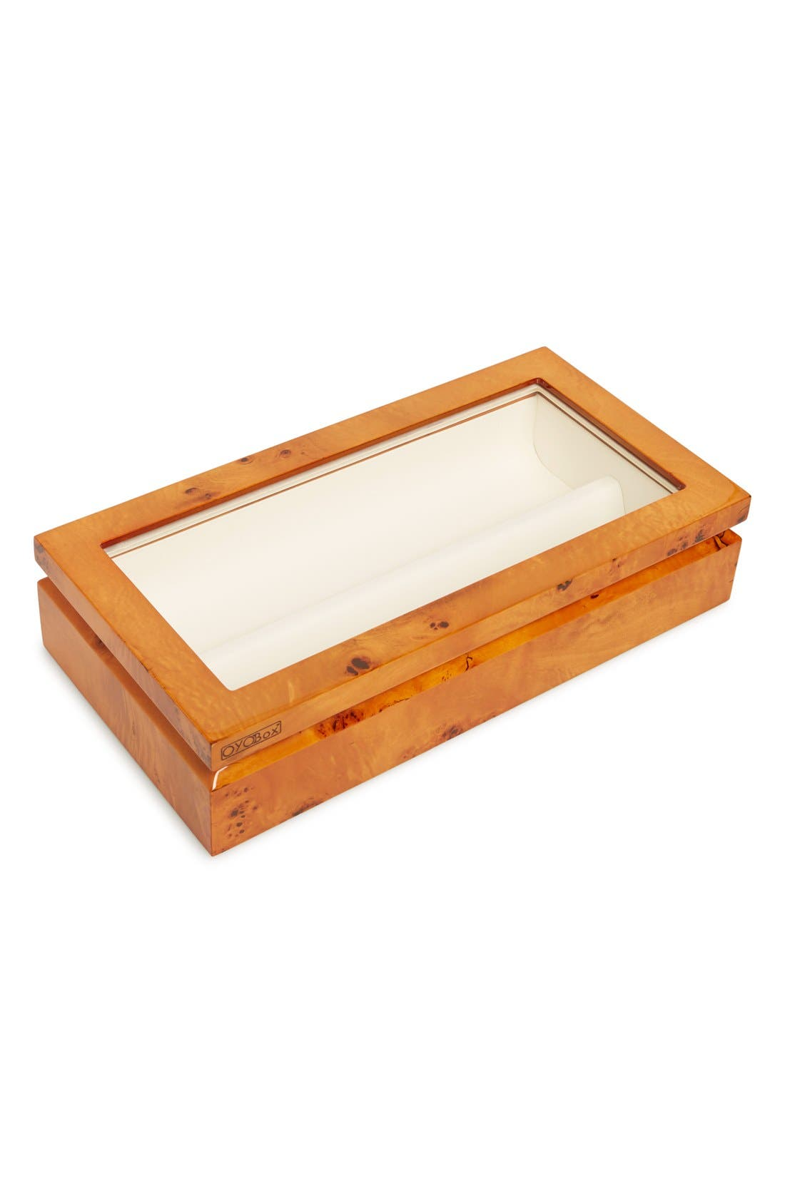 Lacquered Wood Window Top Eyewear Organizer Case,                             Main thumbnail 4, color,