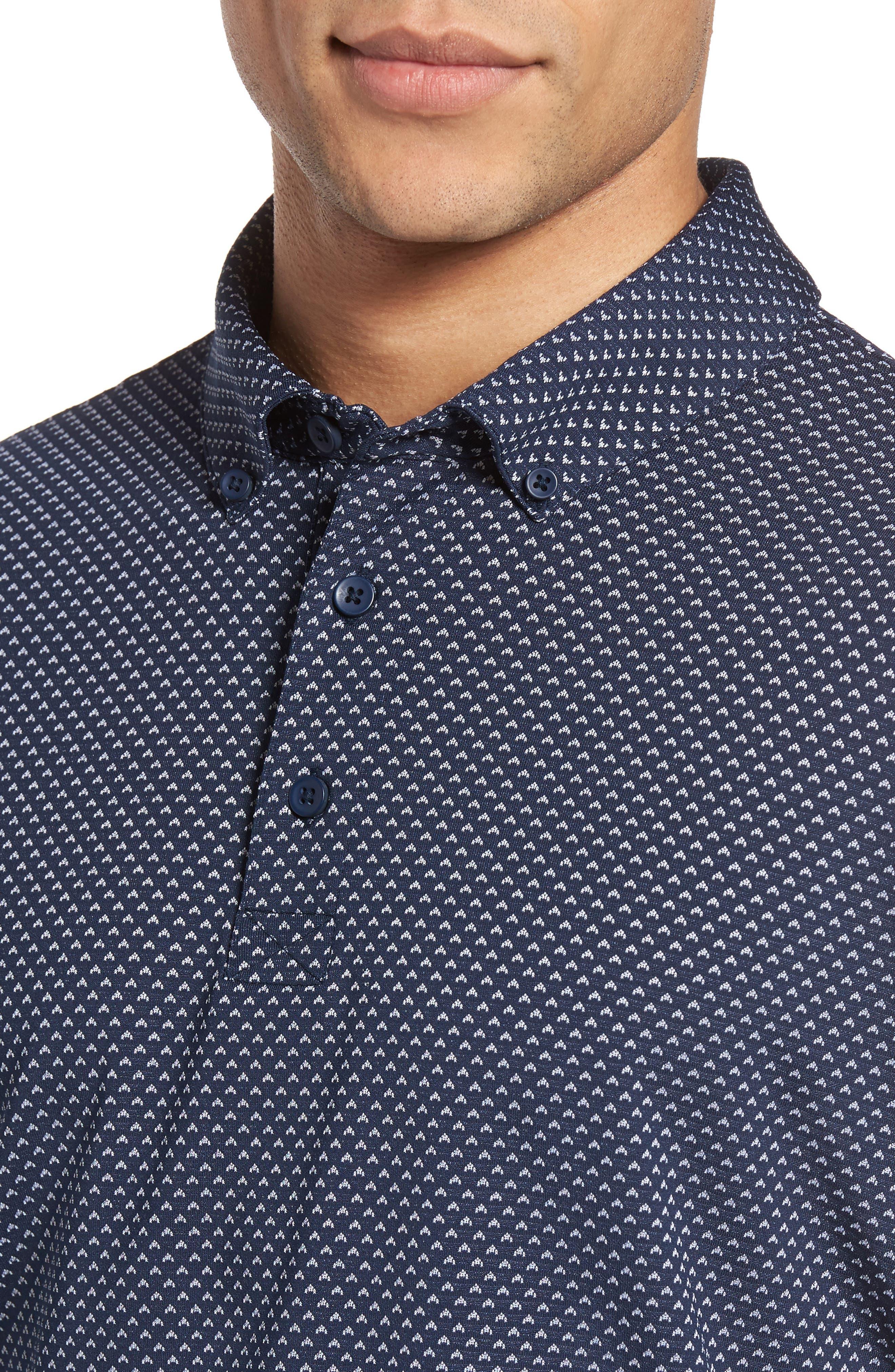 Flatiron Slim Fit Jacquard Jersey Polo,                             Alternate thumbnail 8, color,