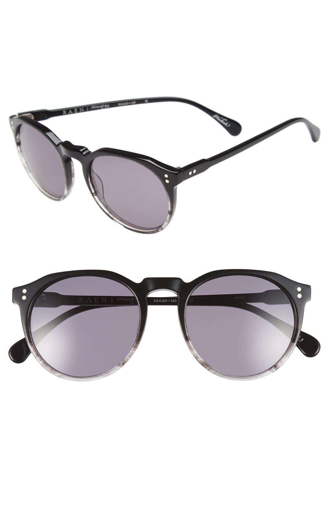'Remmy' 52mm Polarized Sunglasses,                         Main,                         color, VARLEY BLACK