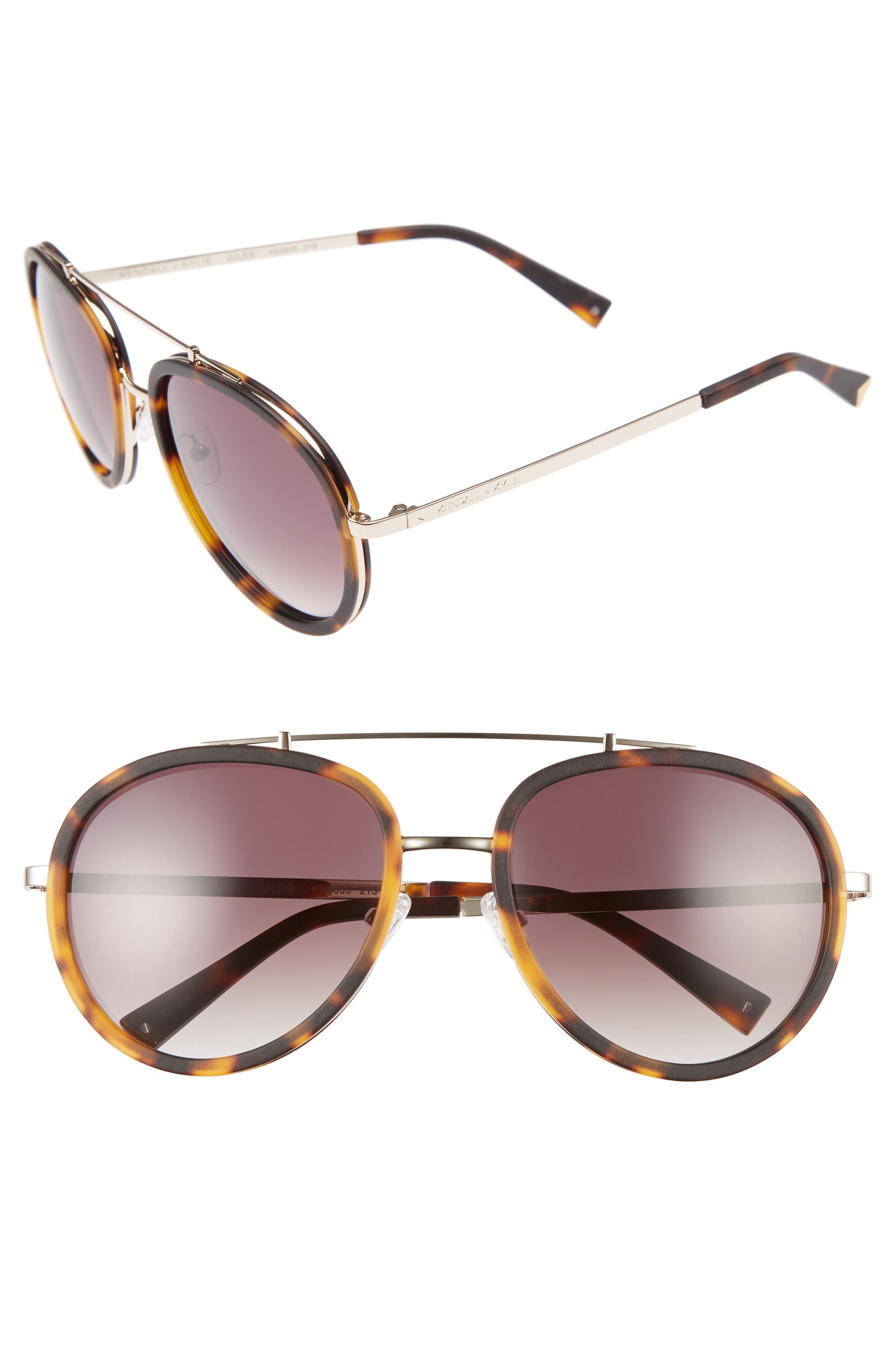 Jules 58mm Aviator Sunglasses,                             Main thumbnail 3, color,