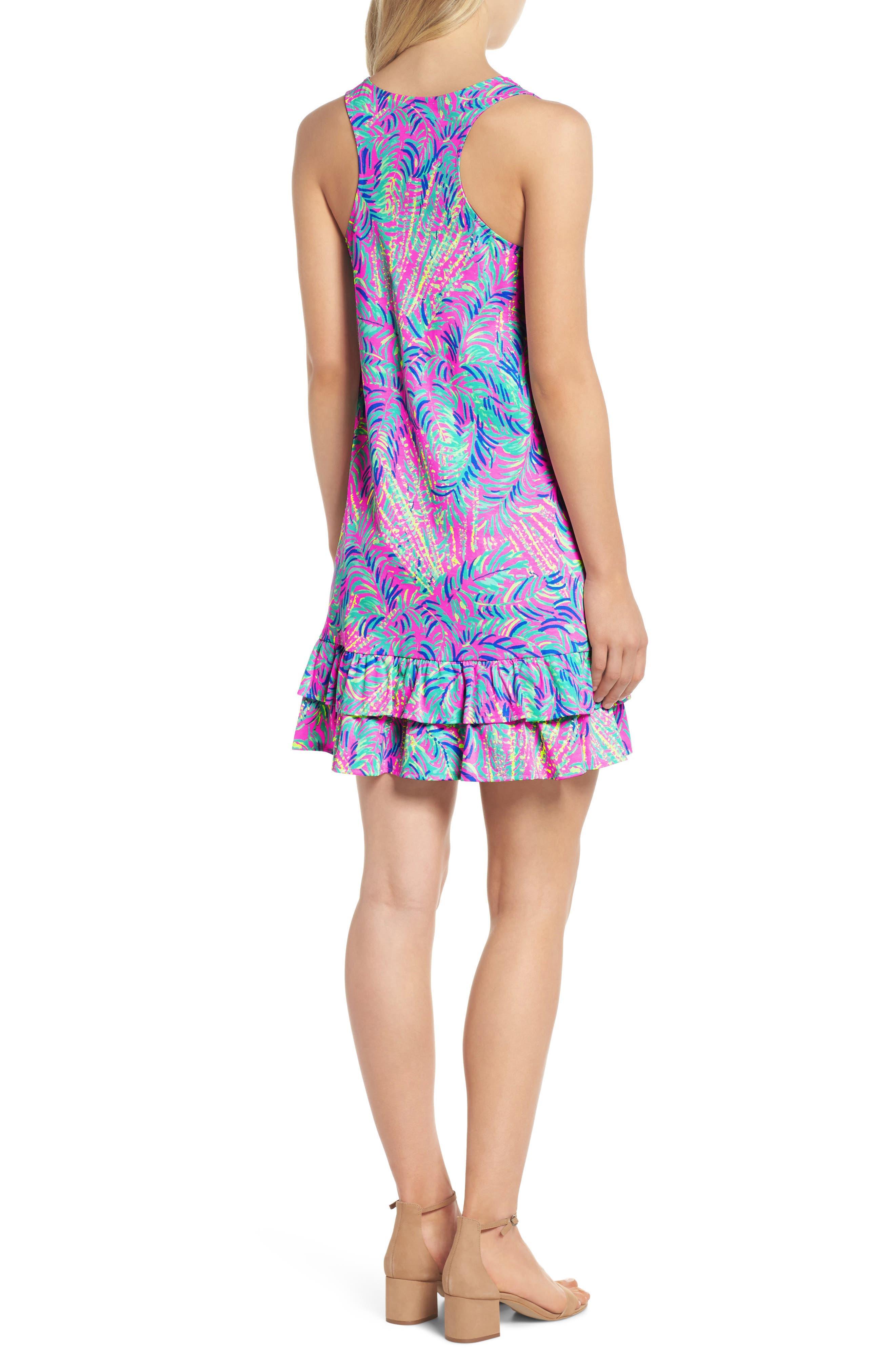 Evangelia Sleeveless Racerback Dress,                             Alternate thumbnail 2, color,                             650