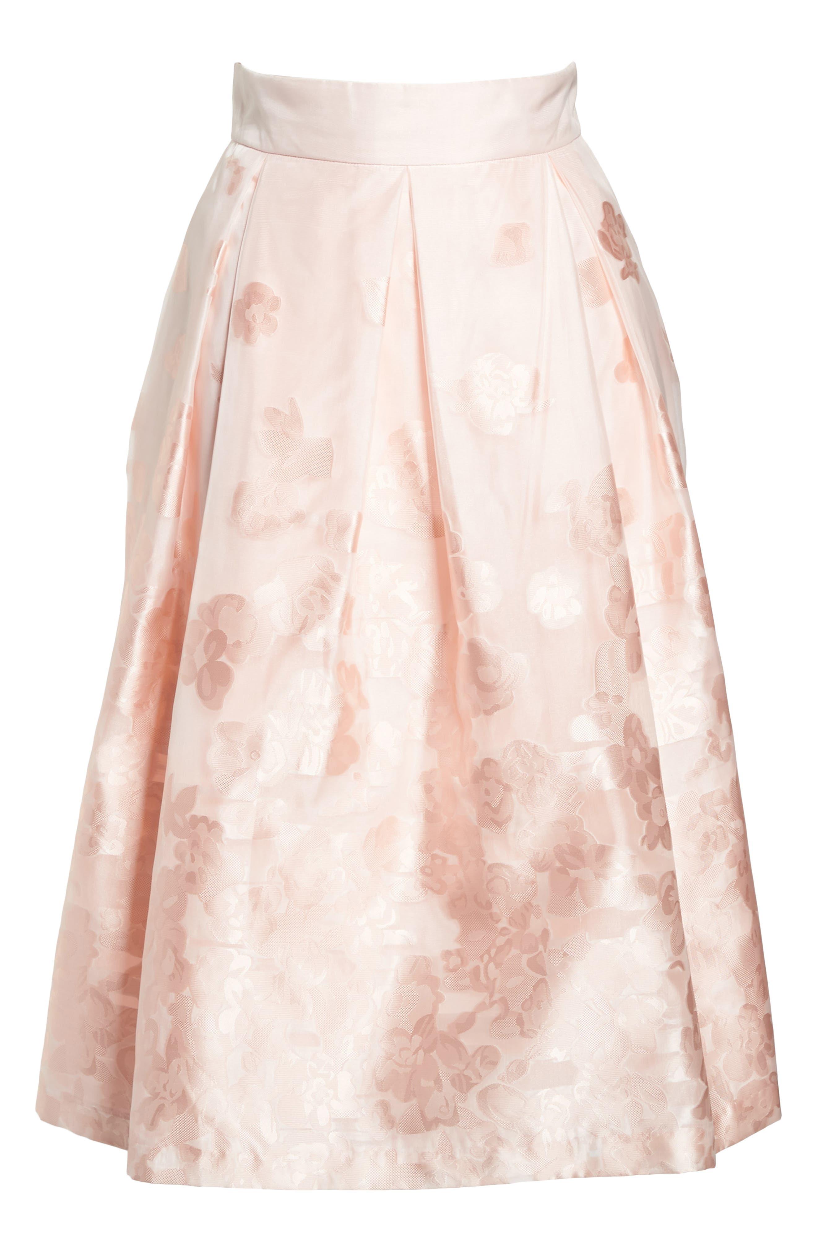 Jacquard A-Line Skirt,                             Alternate thumbnail 6, color,                             BLUSH