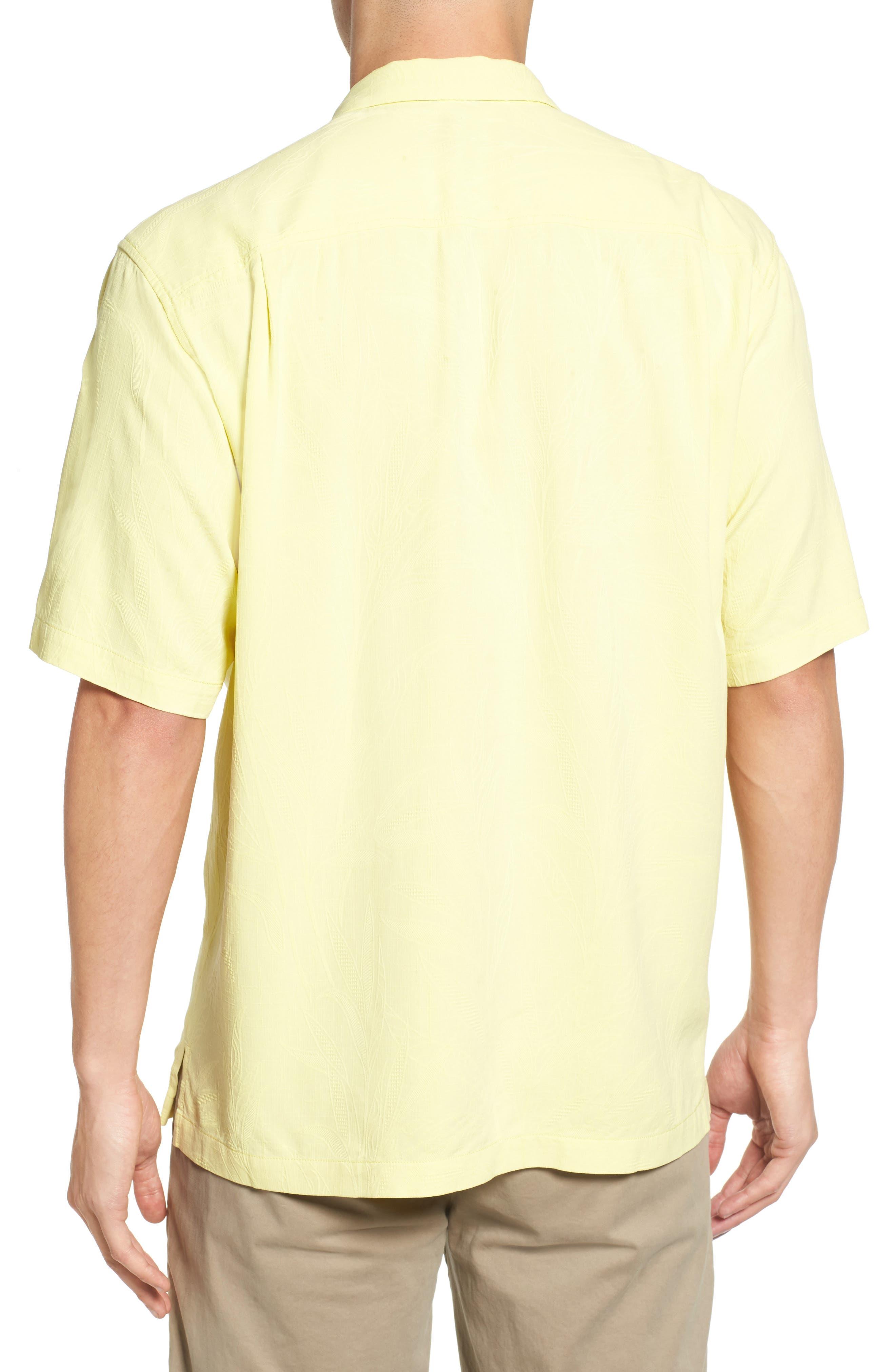 Islander Fronds Silk Camp Shirt,                             Alternate thumbnail 17, color,