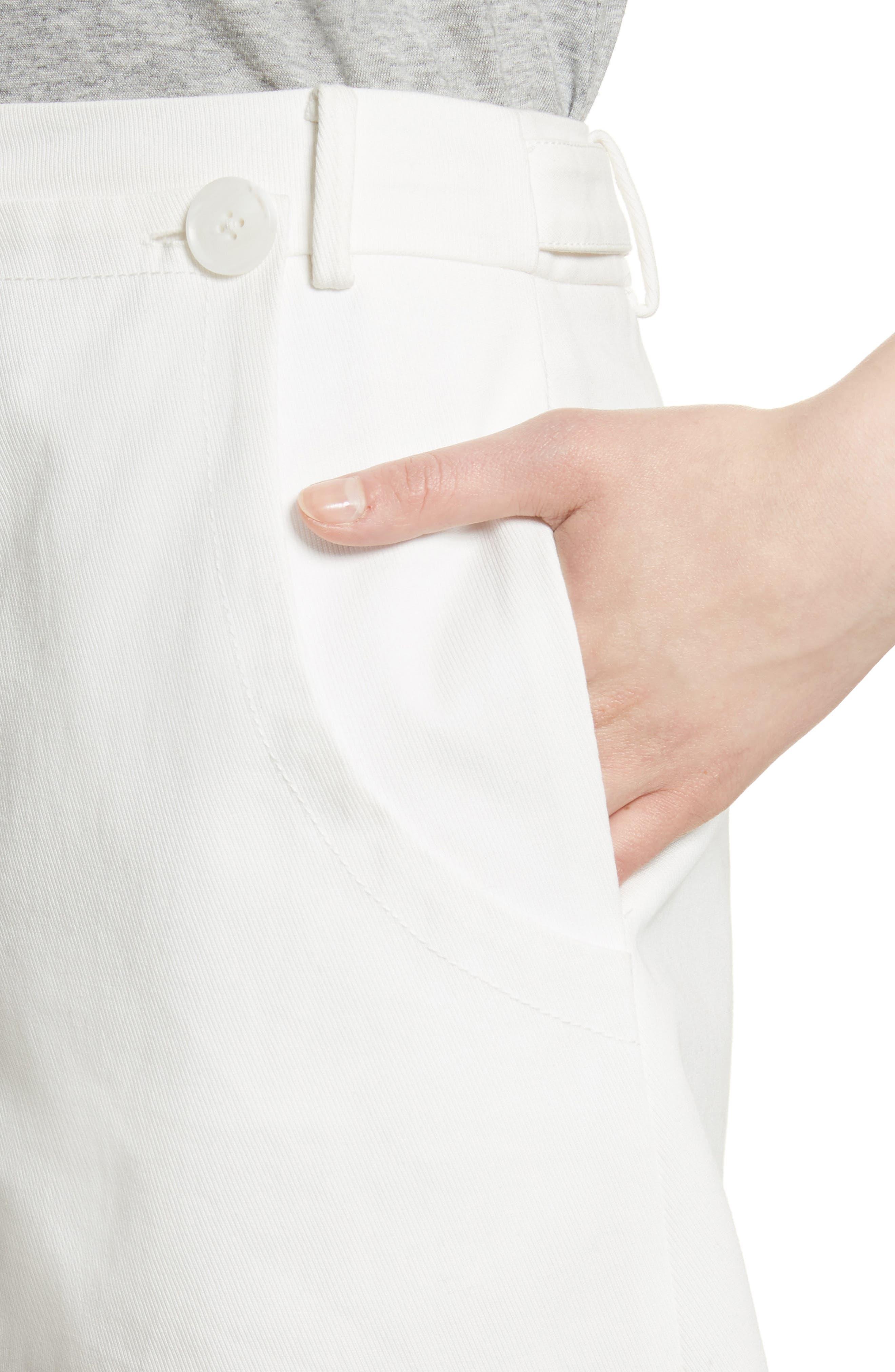 GREY Jason Wu Stretch Cotton Sailor Shorts,                             Alternate thumbnail 4, color,                             110