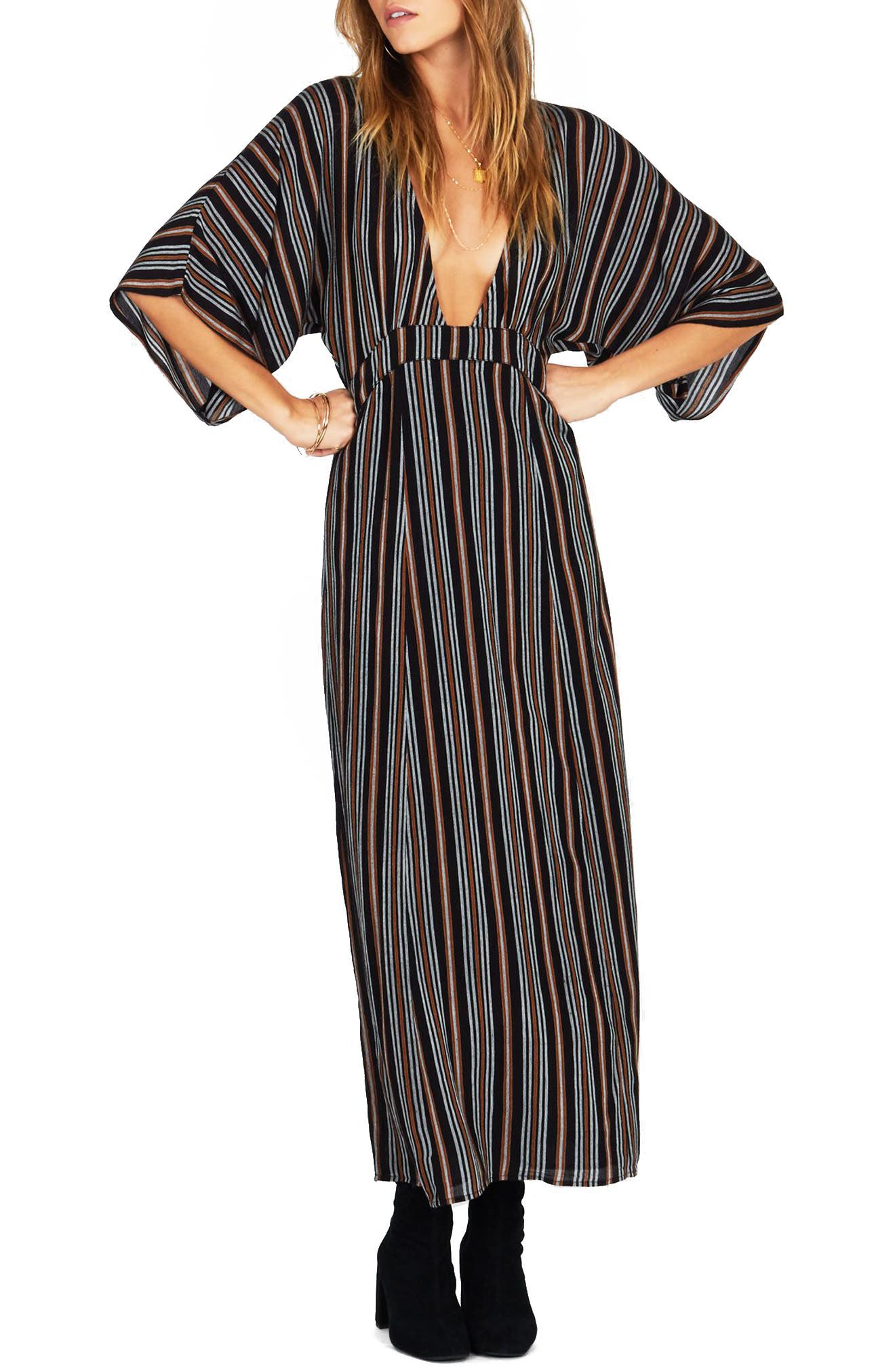 Forever & Day Stripe Maxi Dress,                         Main,                         color,