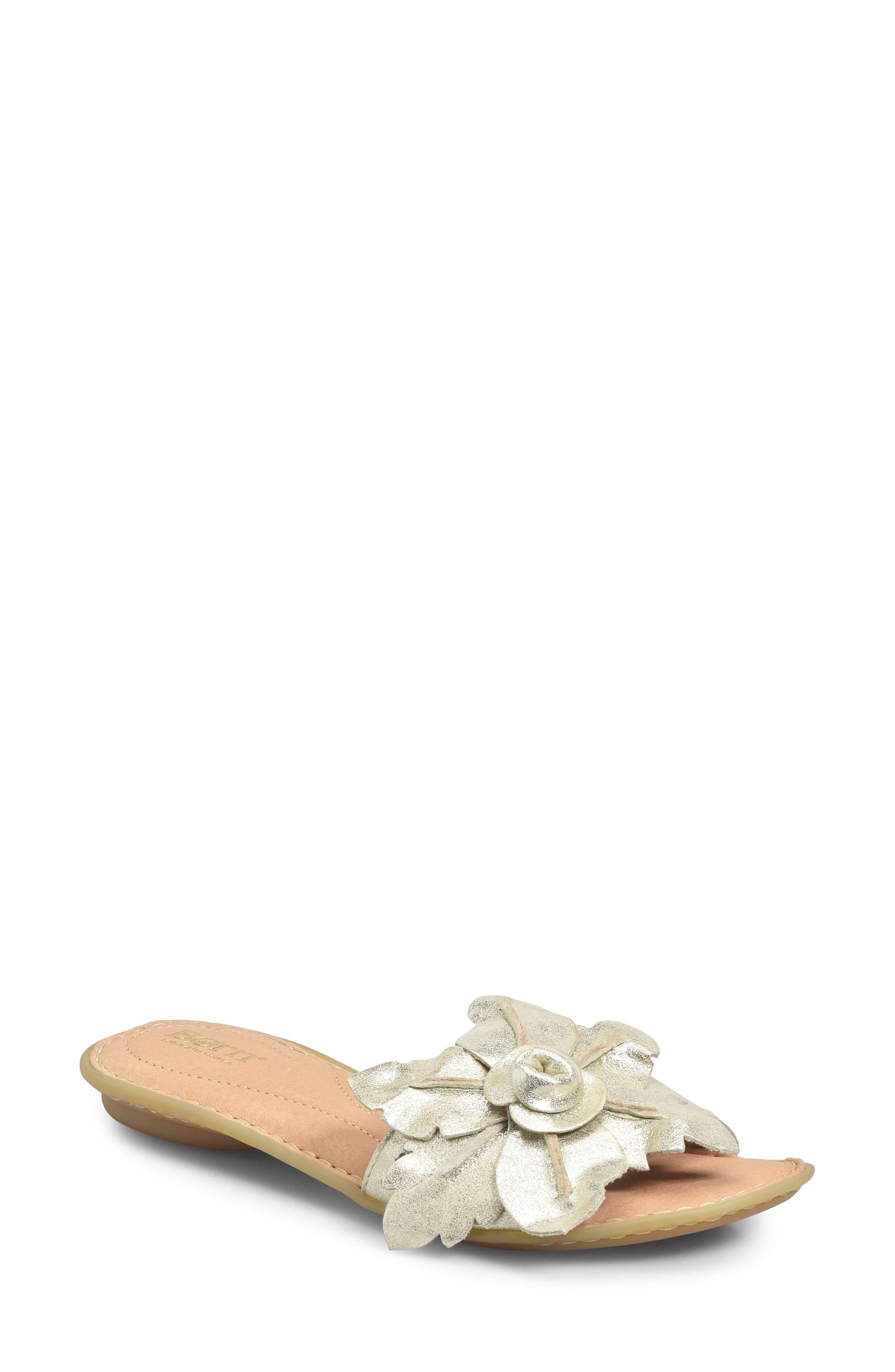 B?rn Mai Floral Sandal, Metallic