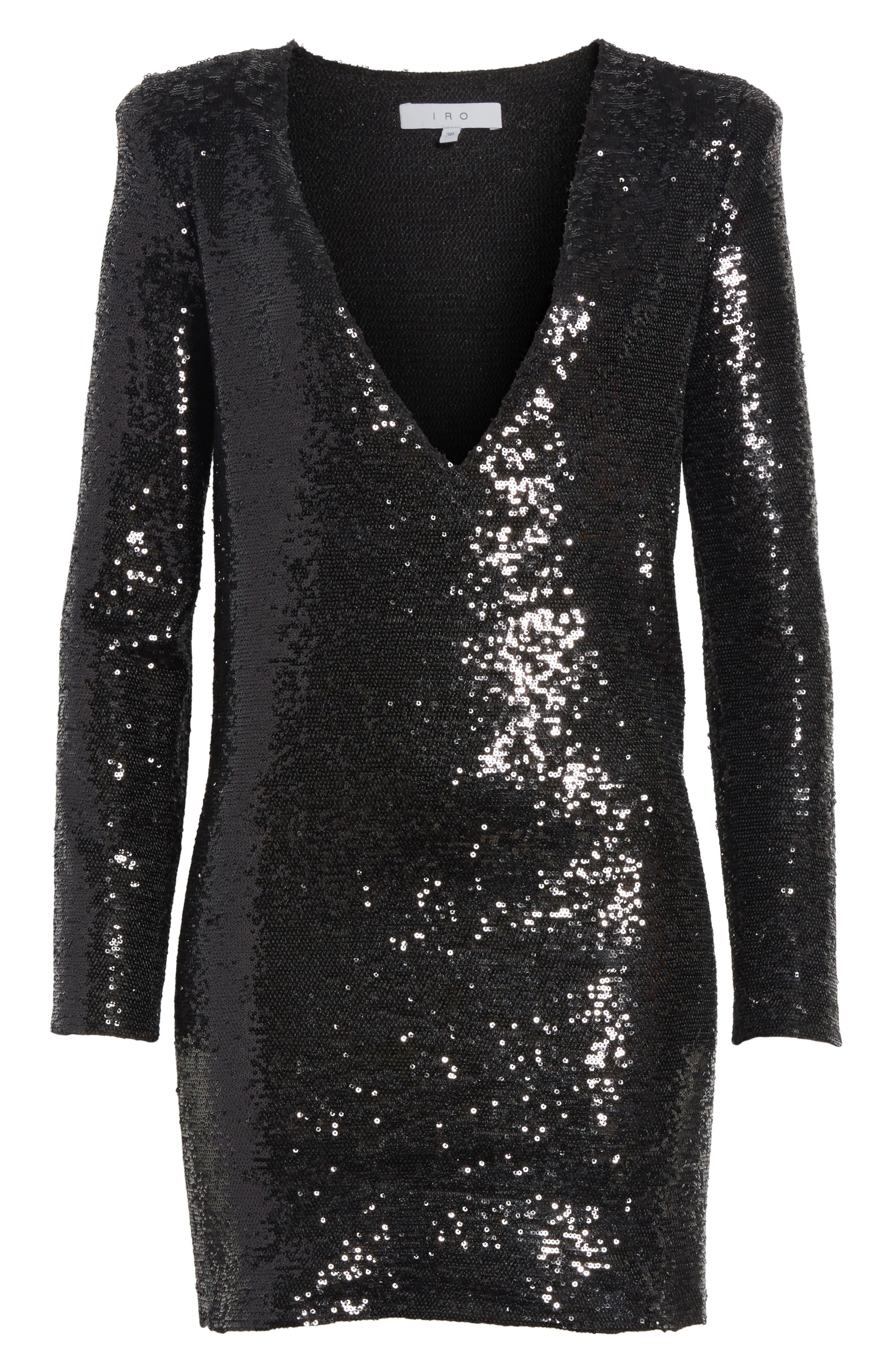 Nobila Sequin Dress,                             Alternate thumbnail 6, color,                             001