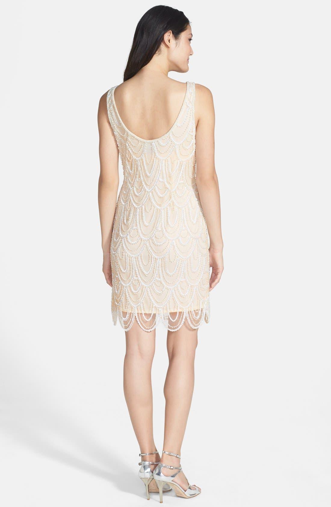Embellished Mesh Sheath Dress,                             Alternate thumbnail 69, color,