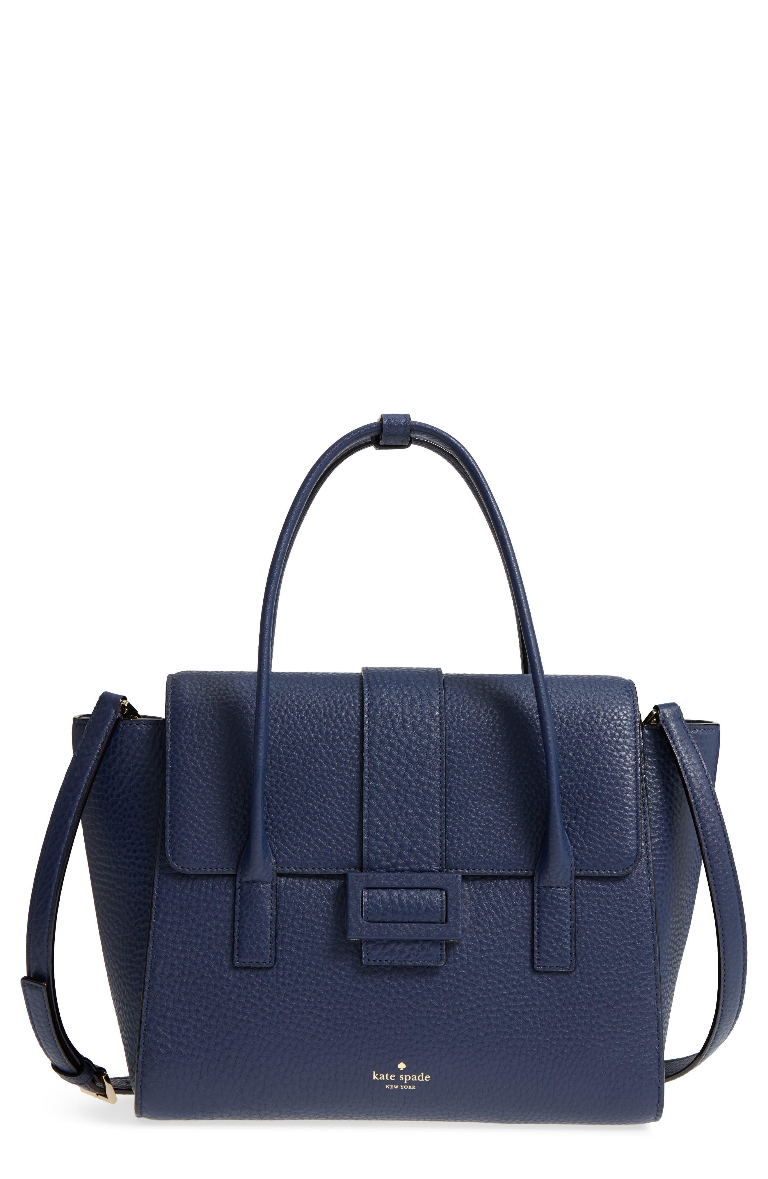 carlyle street - alexa leather satchel,                             Main thumbnail 2, color,