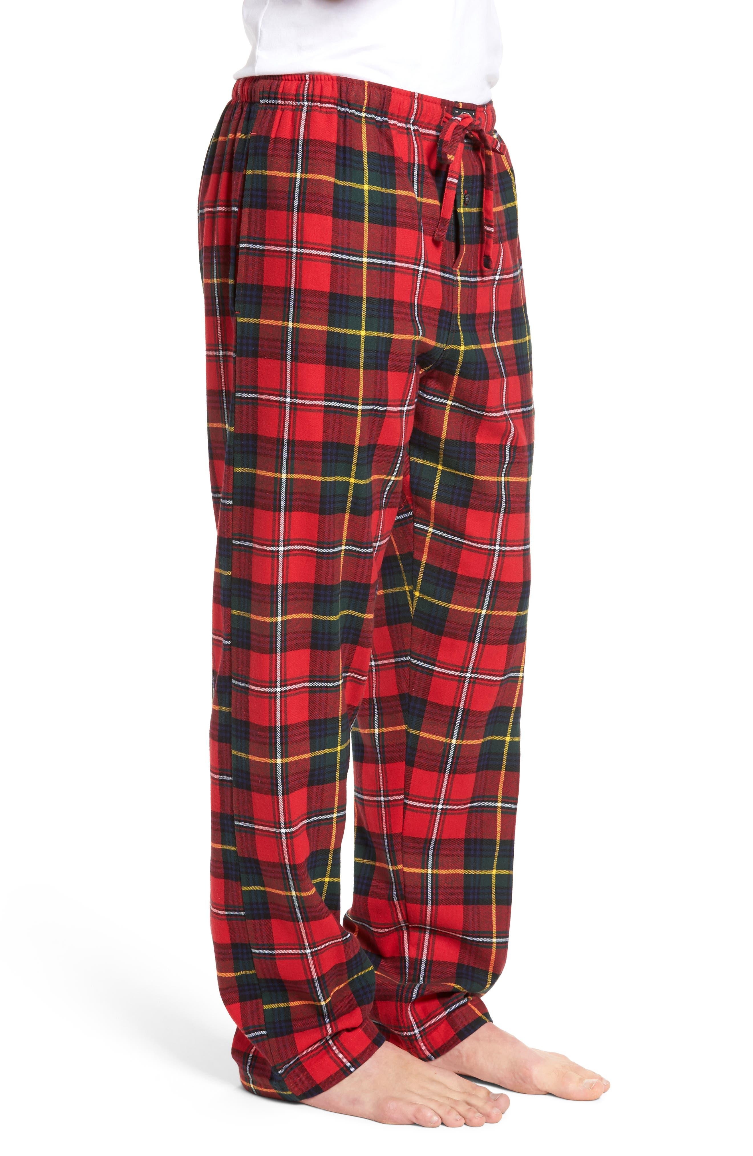 Flannel Pajama Pants,                             Alternate thumbnail 39, color,