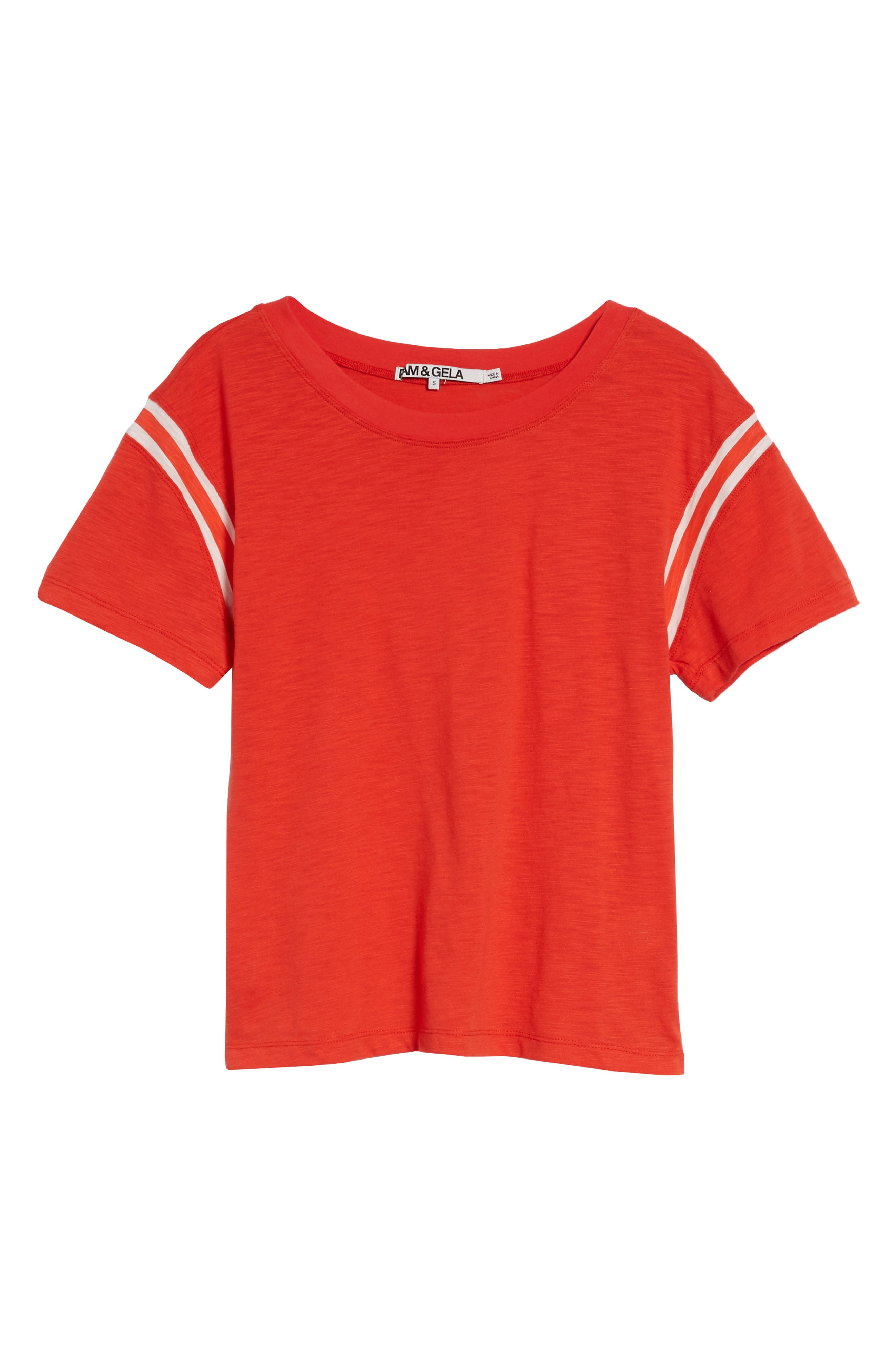 Football Tee,                             Alternate thumbnail 6, color,                             CANDY RED