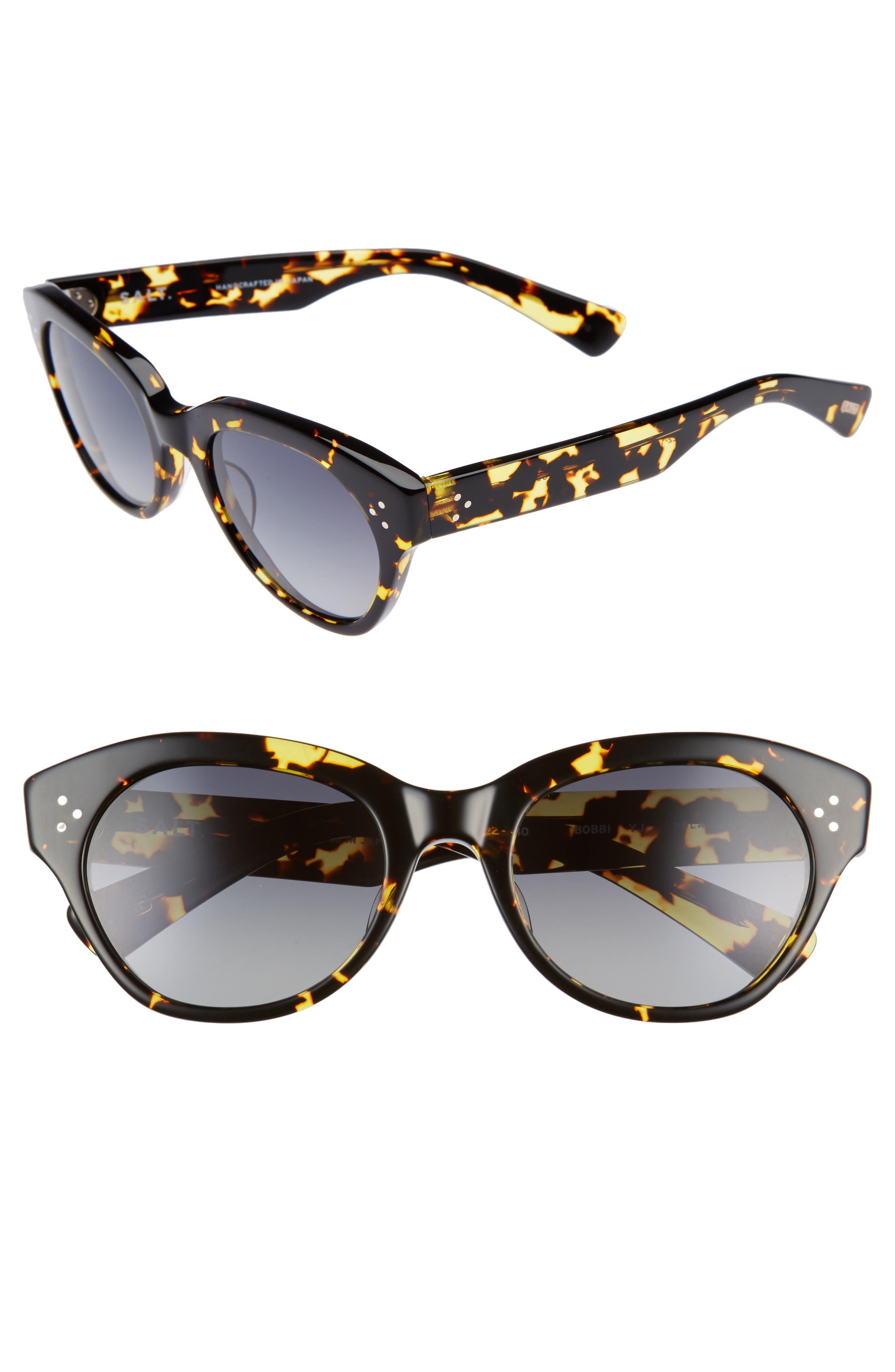 Bobbi 53mm Cat Eye Polarized Sunglasses,                             Main thumbnail 1, color,                             001