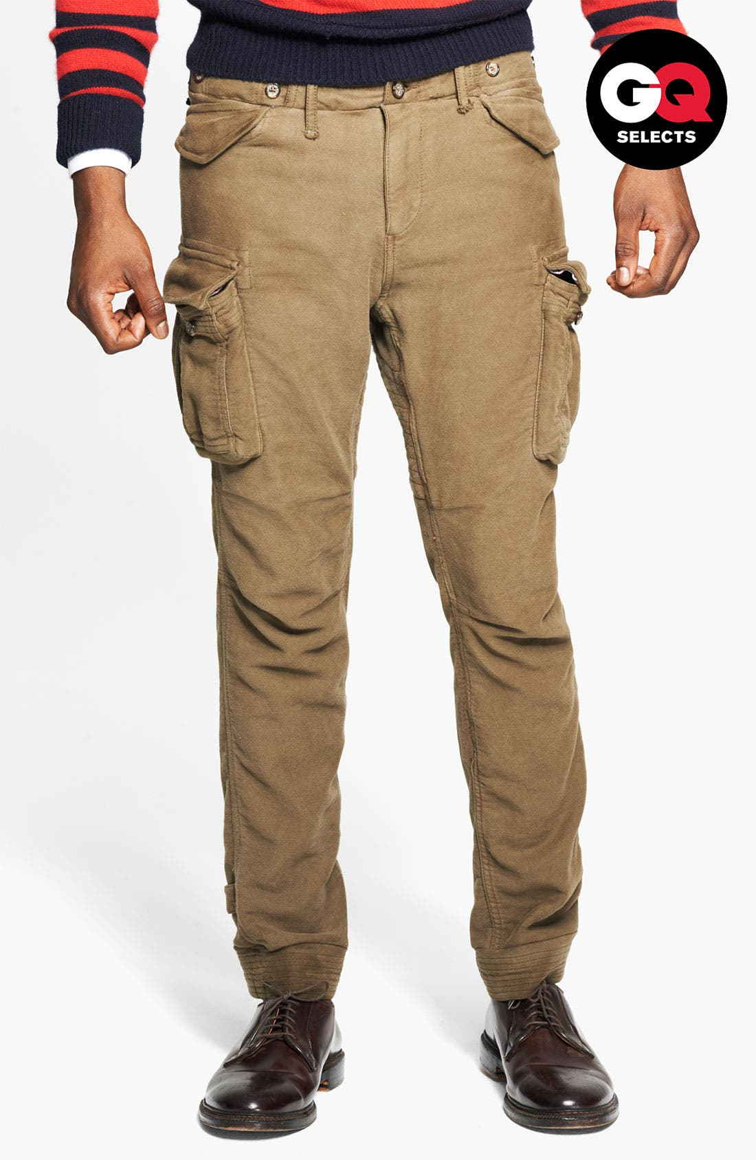 Skinny Moleskin Cotton Cargo Pants, Main, color, 301