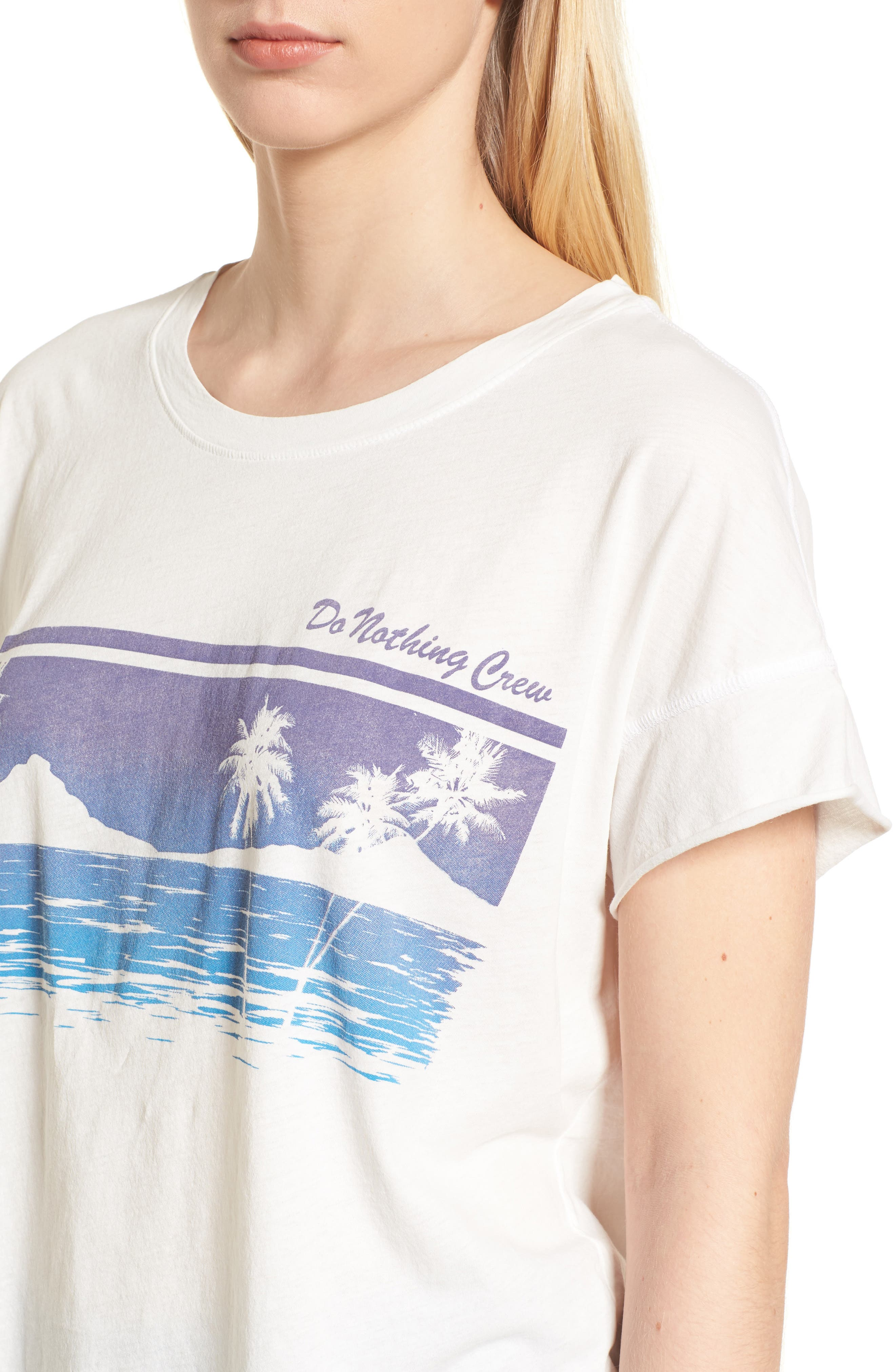 Do Nothing Crew Tee,                             Alternate thumbnail 4, color,                             110