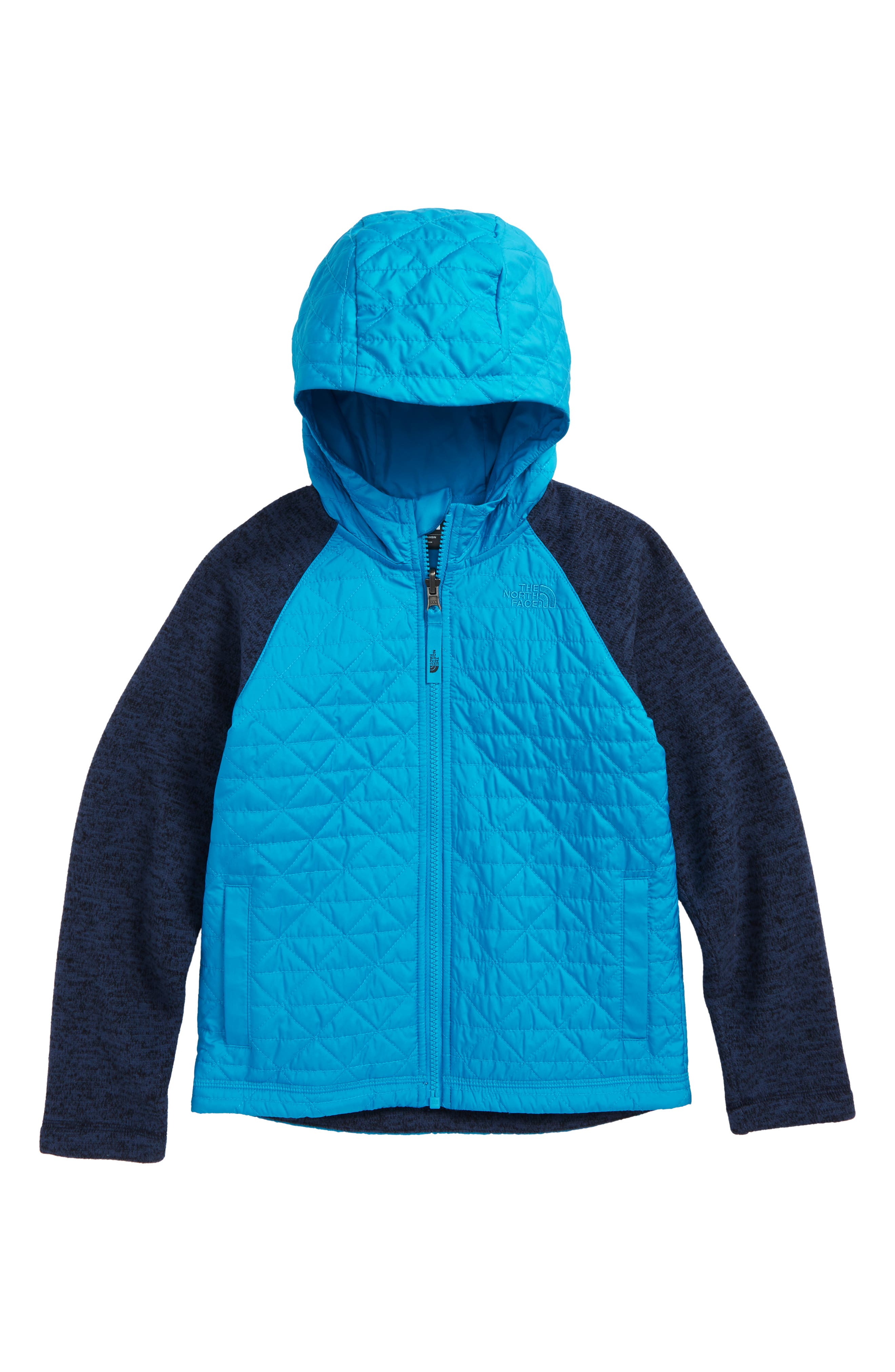 Water Repellent Quilted Sweater Fleece Jacket,                             Main thumbnail 1, color,                             COSMIC BLUE/ HYPER BLUE