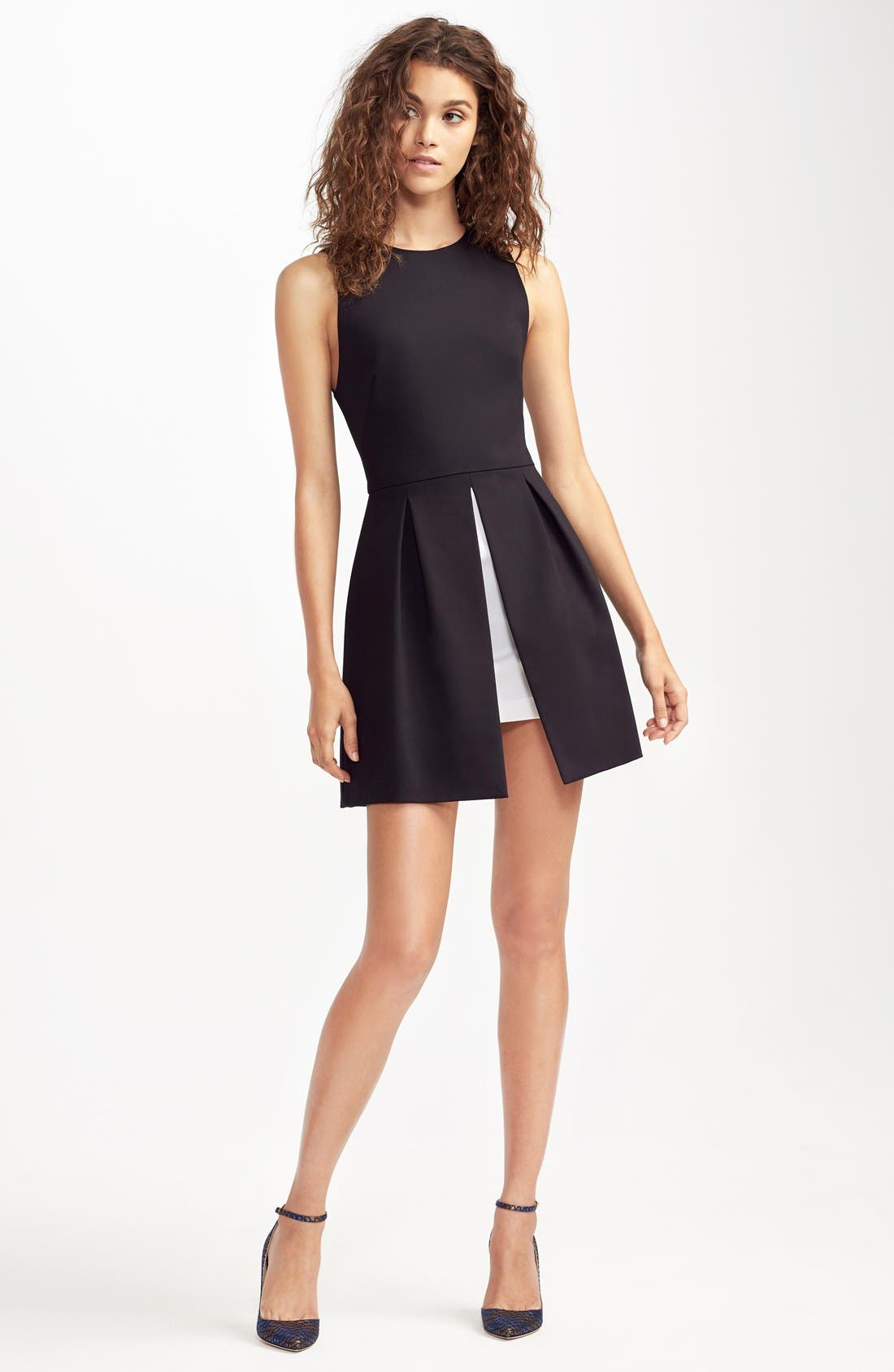 'Bria' Peplum Fit & Flare Dress,                             Alternate thumbnail 2, color,                             009
