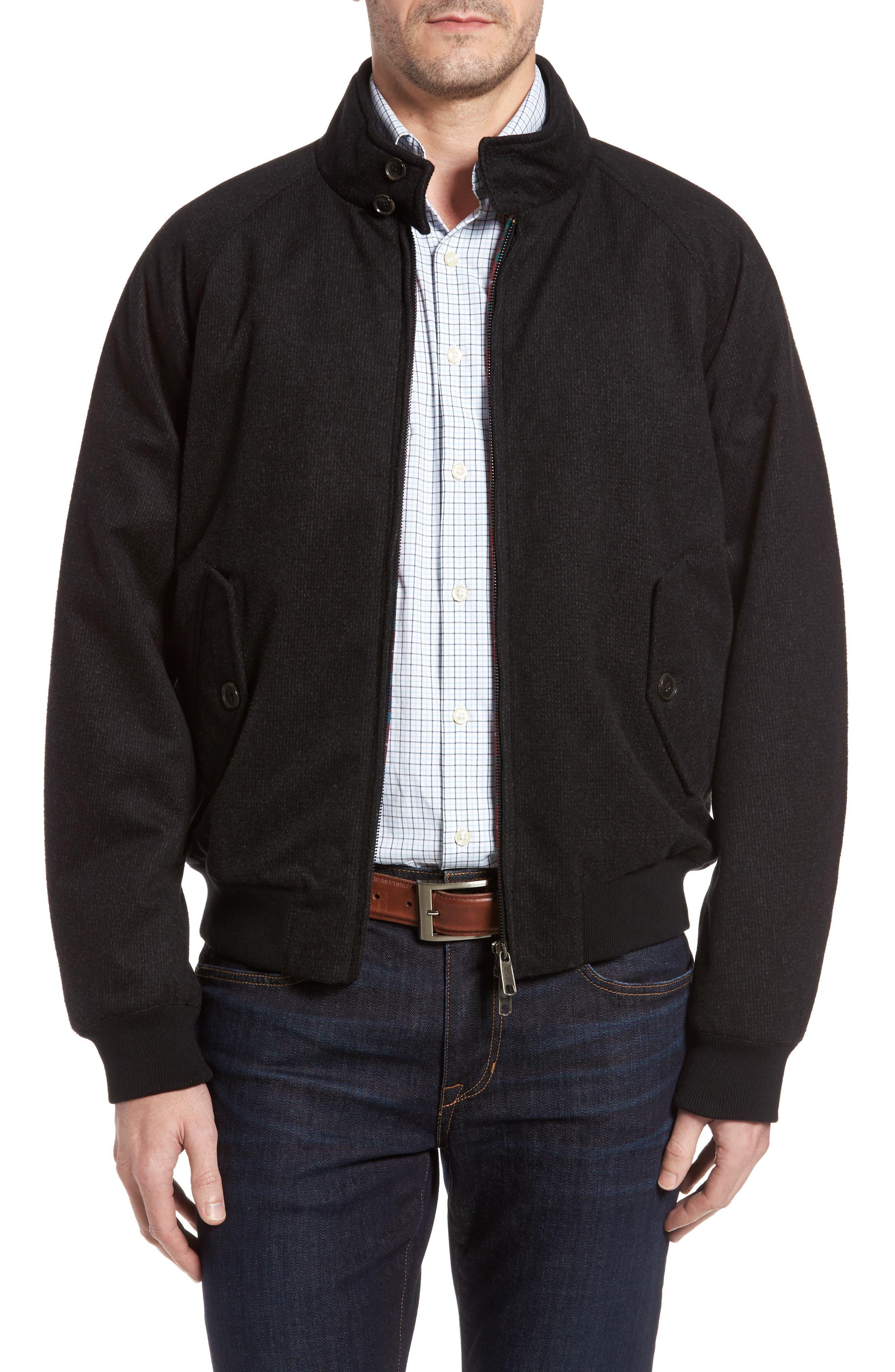 G9 Waterproof Wool Blend Harrington Jacket,                         Main,                         color, 020