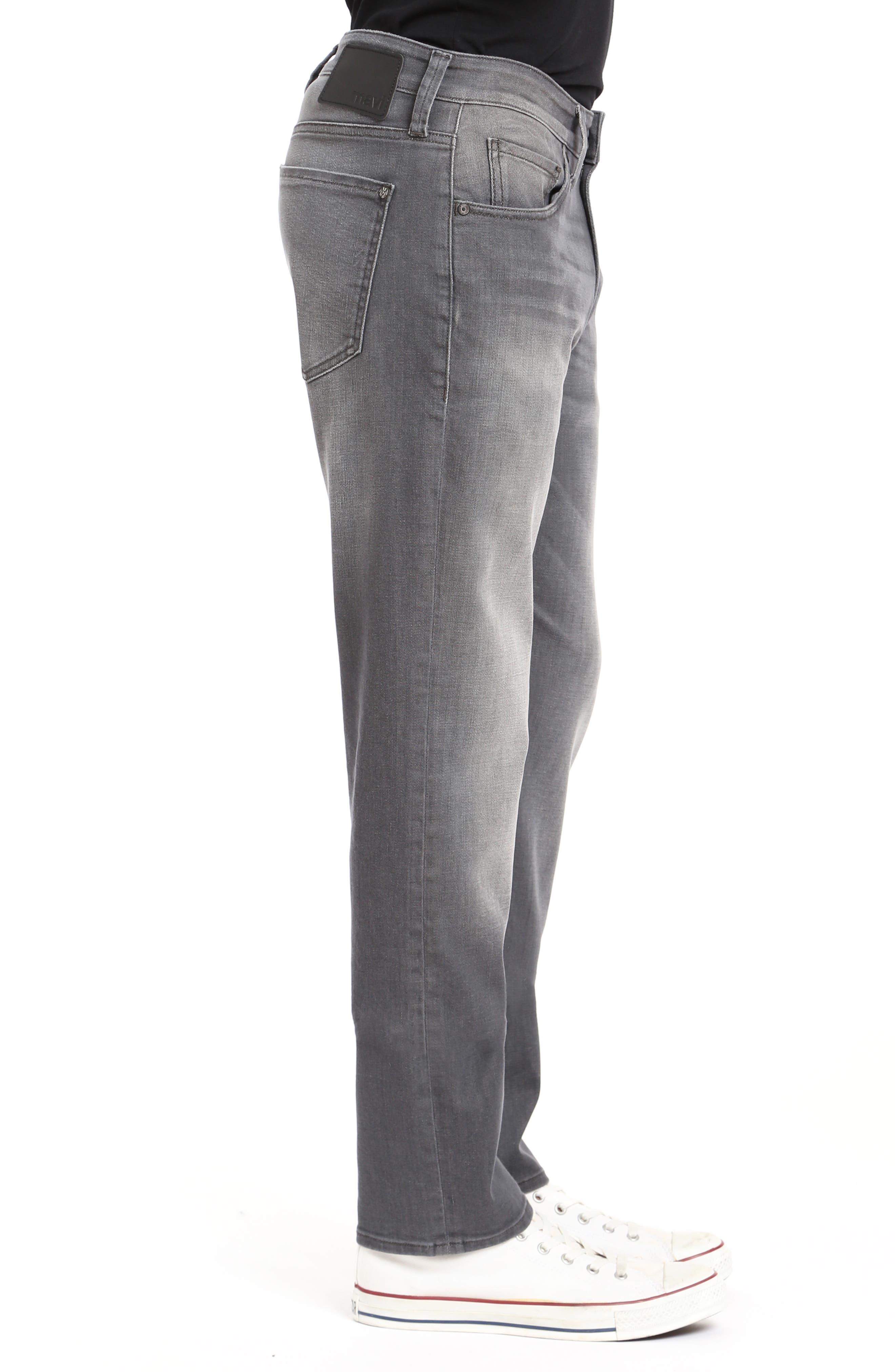 Zach Straight Leg Jeans,                             Alternate thumbnail 3, color,                             LIGHT GREY BROOKLYN