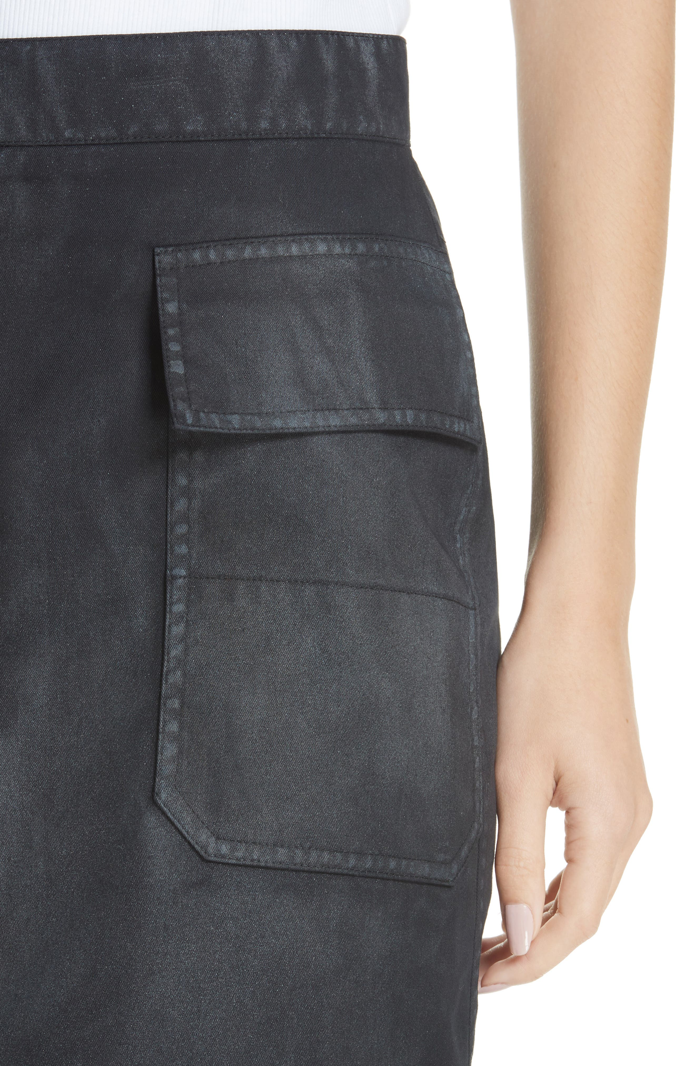 Fireman Skirt,                             Alternate thumbnail 4, color,                             BLACK