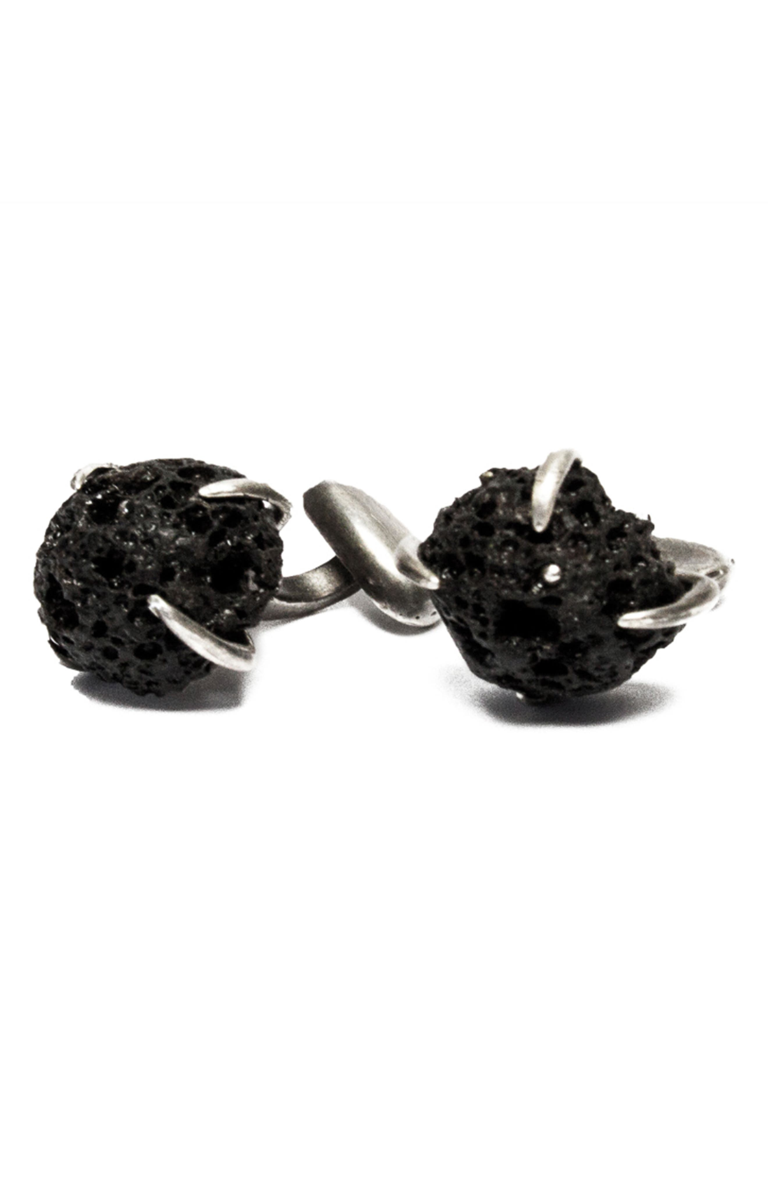 Volcanic Stones Cuff Links,                             Main thumbnail 1, color,                             001