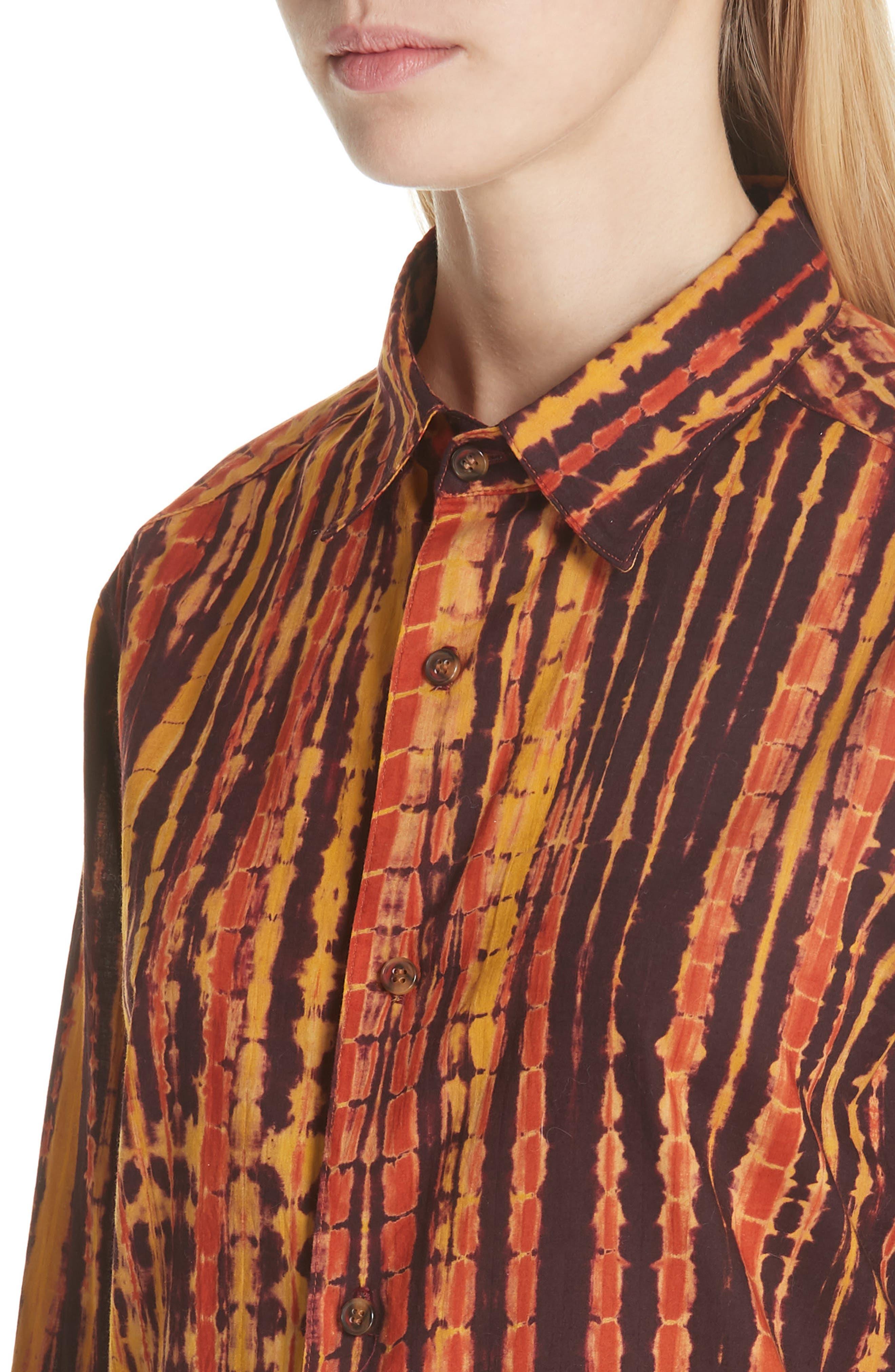 ECKHAUS LATTA,                             Hand Dyed Cotton Shirt,                             Alternate thumbnail 4, color,                             200