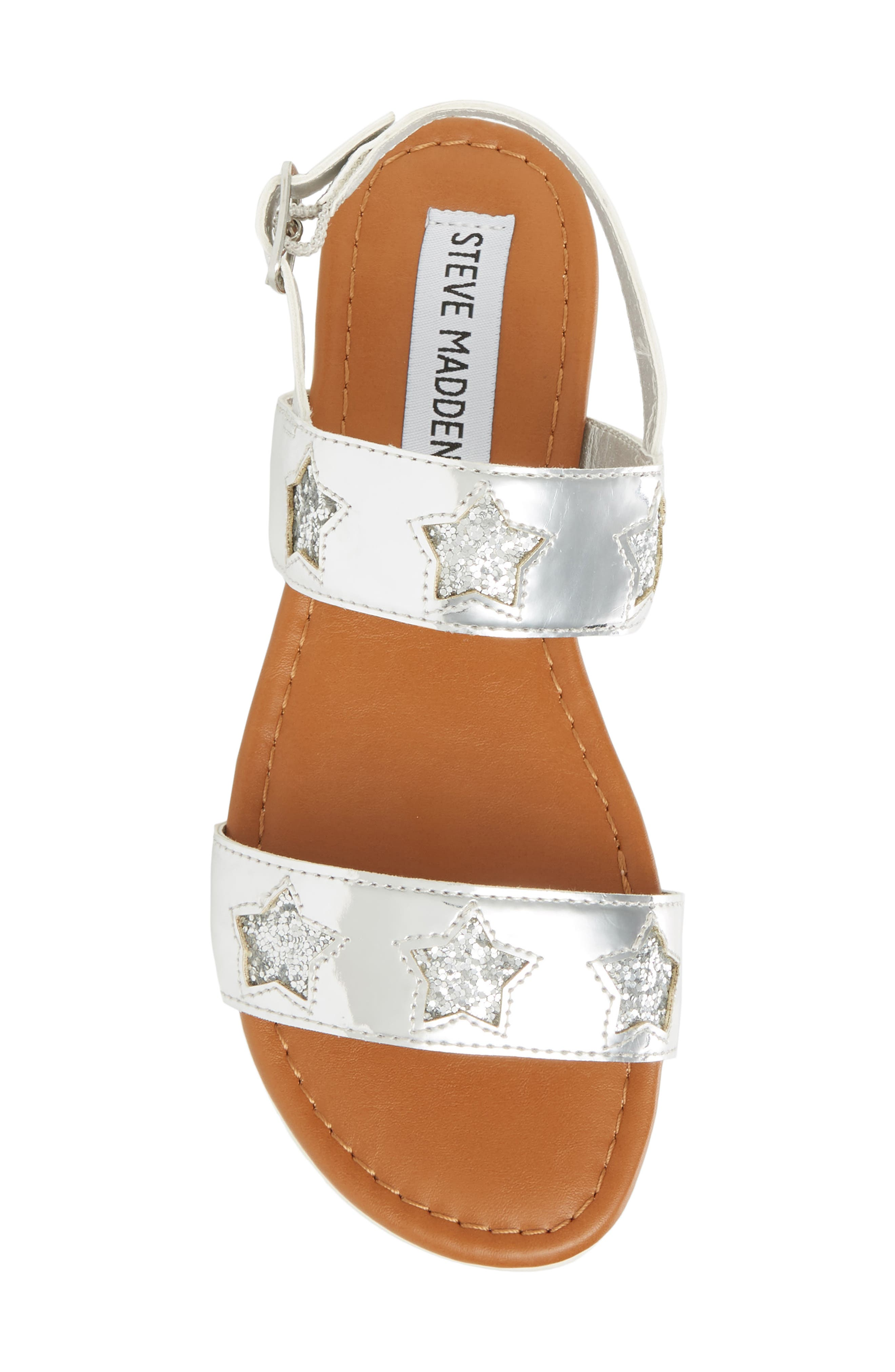 Adventure Glitter Sandal,                             Alternate thumbnail 5, color,                             SILVER