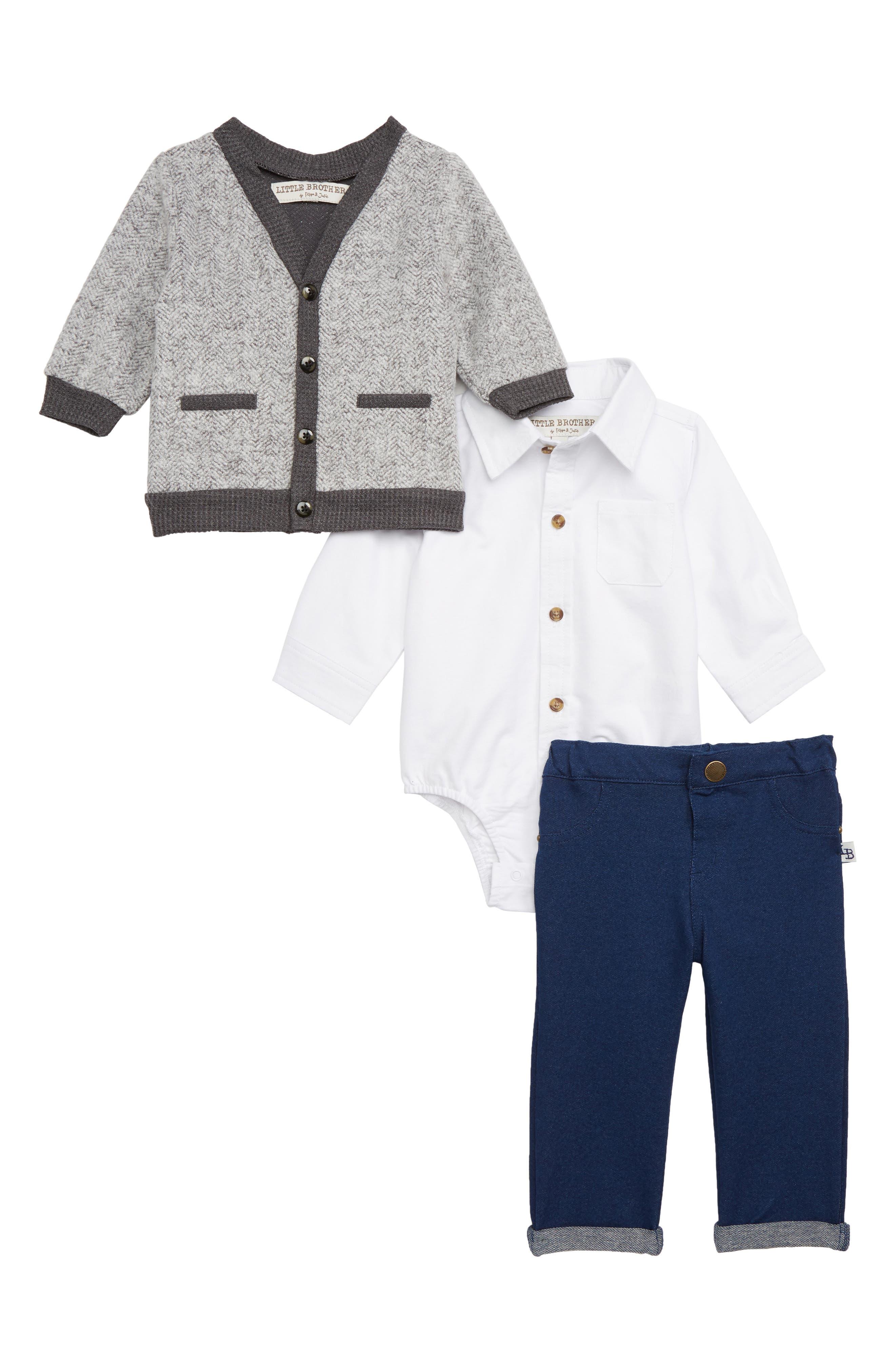 Sweater, Shirt & Pants Set, Main, color, 020
