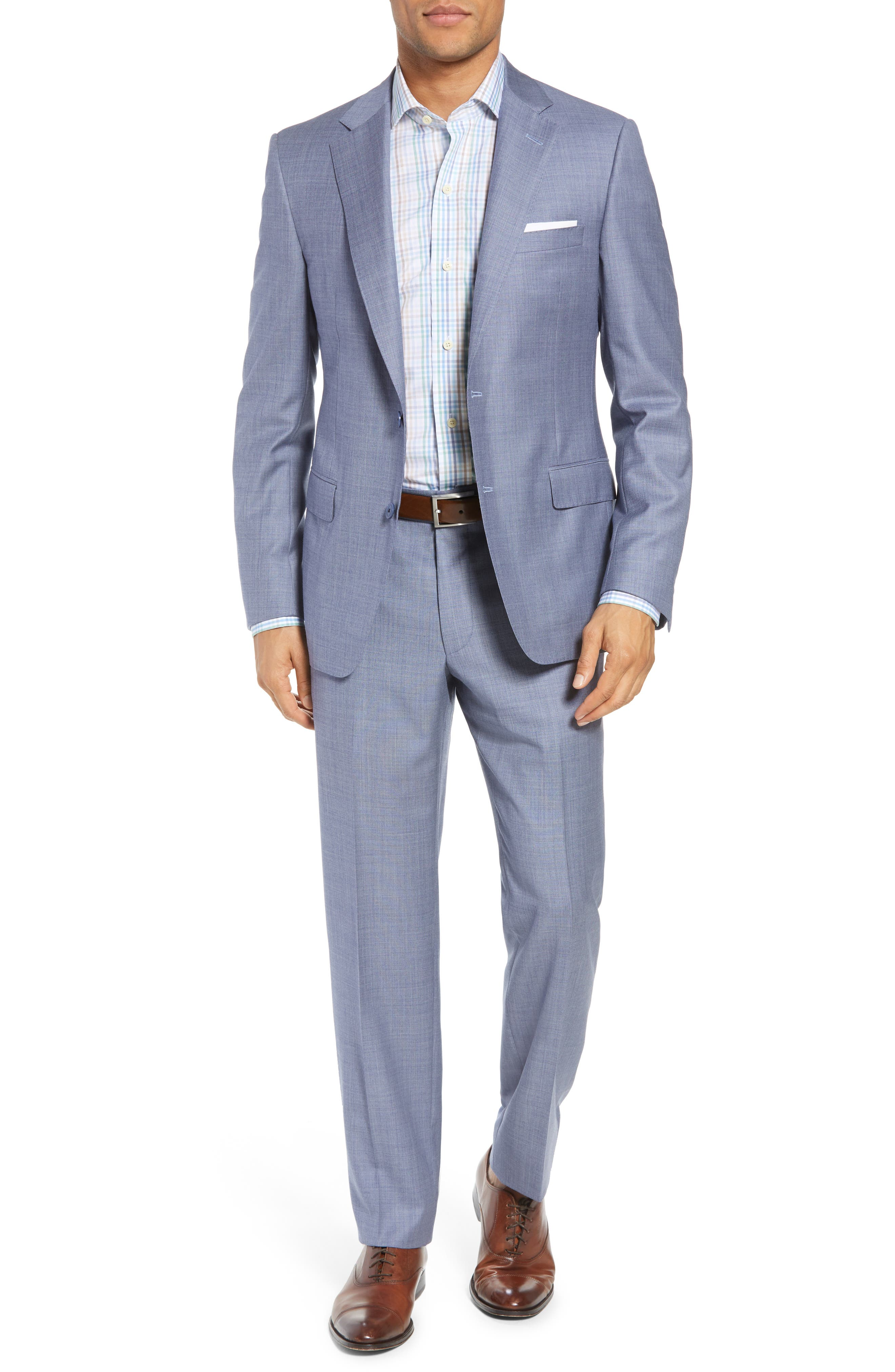 Classic Fit Solid Wool Suit,                         Main,                         color, 450