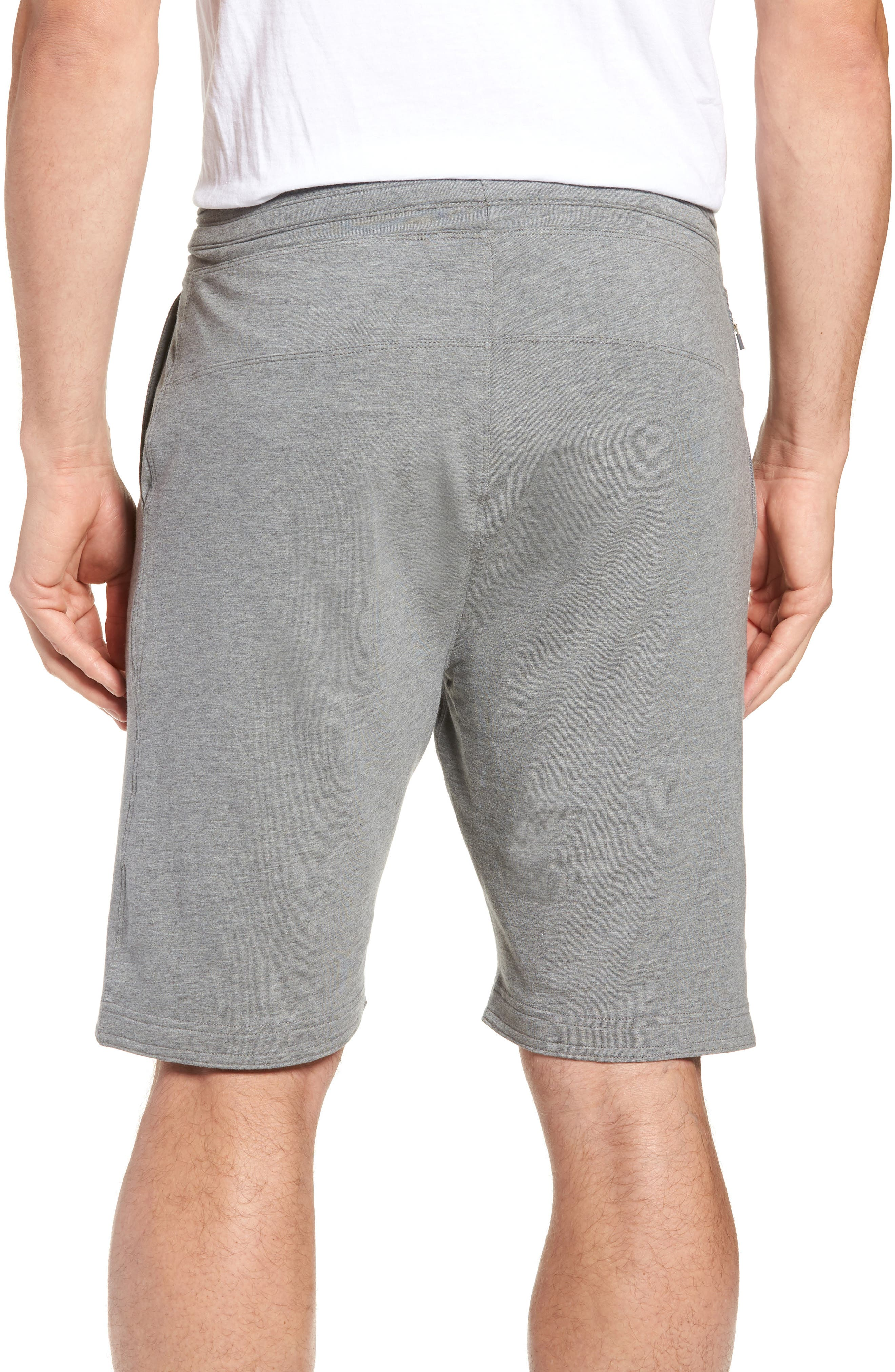 Legacy II Semi-Fitted Knit Athletic Shorts,                             Alternate thumbnail 2, color,                             HEATHER GRAY