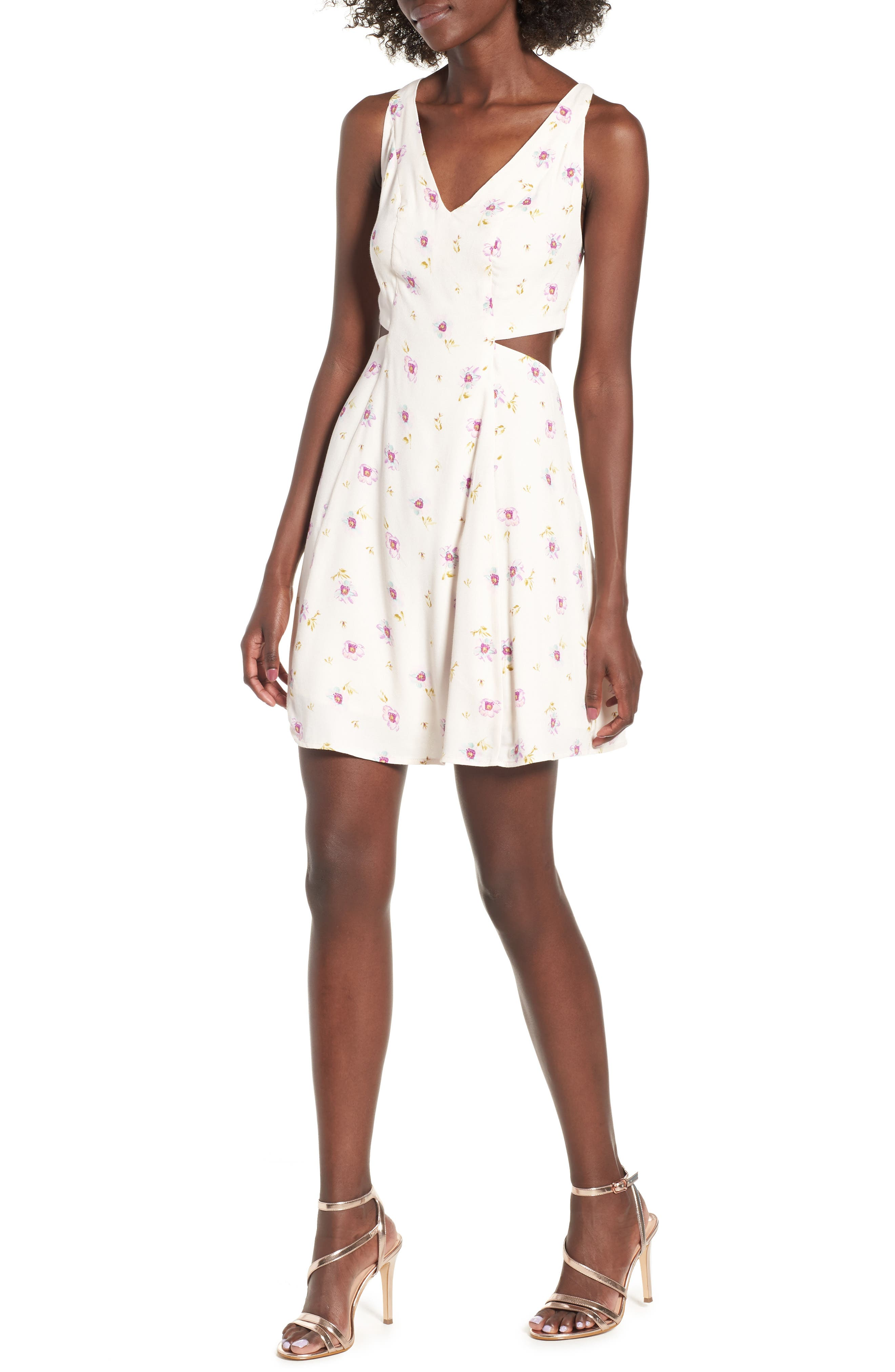 AFRM Rayanna Minidress, Main, color, 500