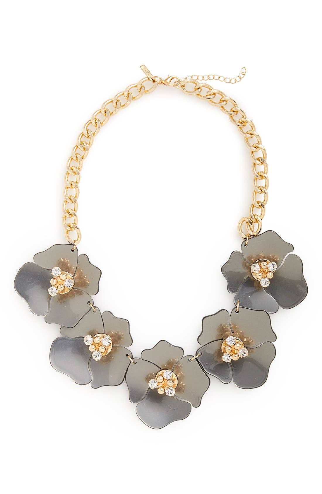 Large Flower Collar Necklace,                             Main thumbnail 1, color,