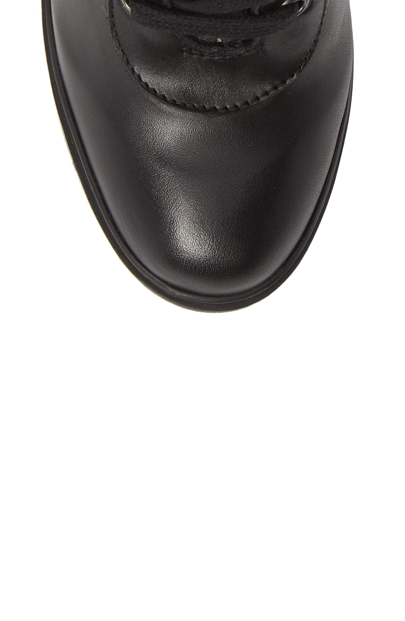 Latch Boot,                             Alternate thumbnail 5, color,                             BLACK LEATHER