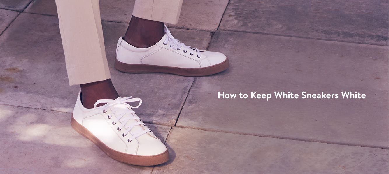How to keep white sneakers white.