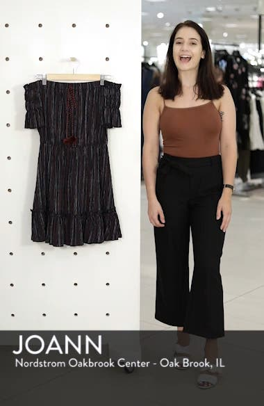 Stripe Off the Shoulder Dress, sales video thumbnail