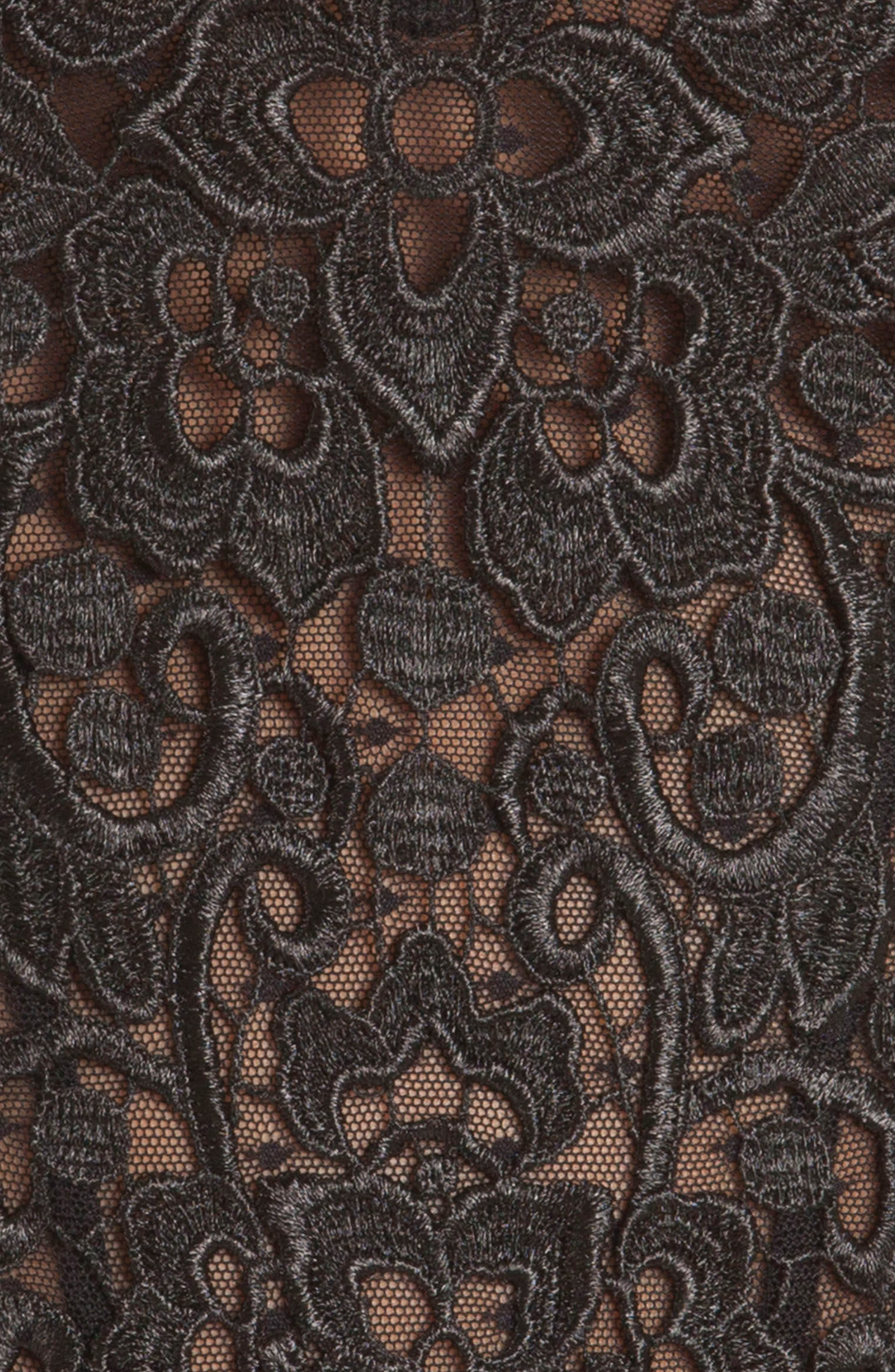 Byzantine Lace & Mesh Teddy,                             Alternate thumbnail 4, color,                             001