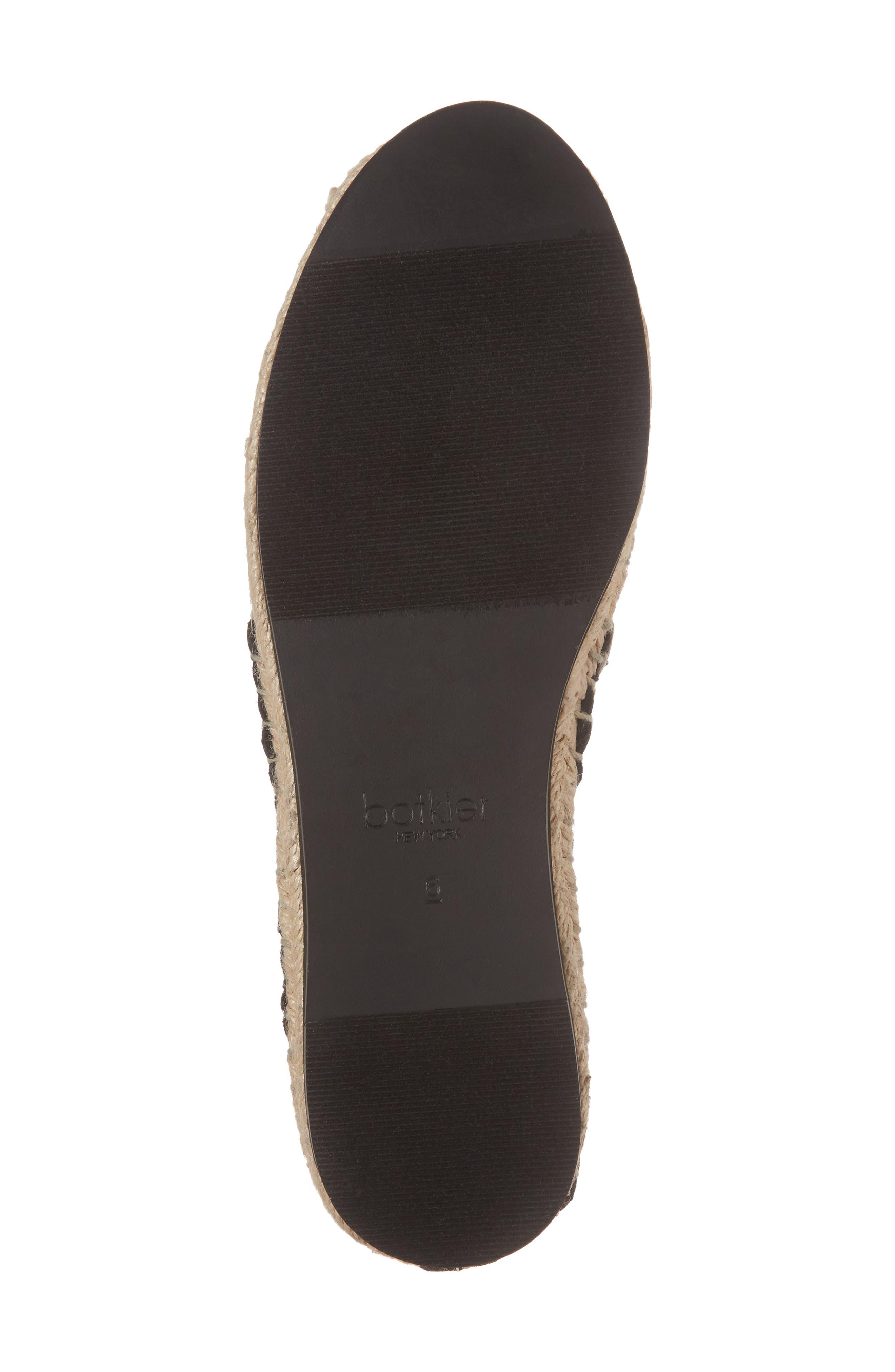 Sara Espadrille Platform Loafer,                             Alternate thumbnail 6, color,                             BLACK MESH FABRIC